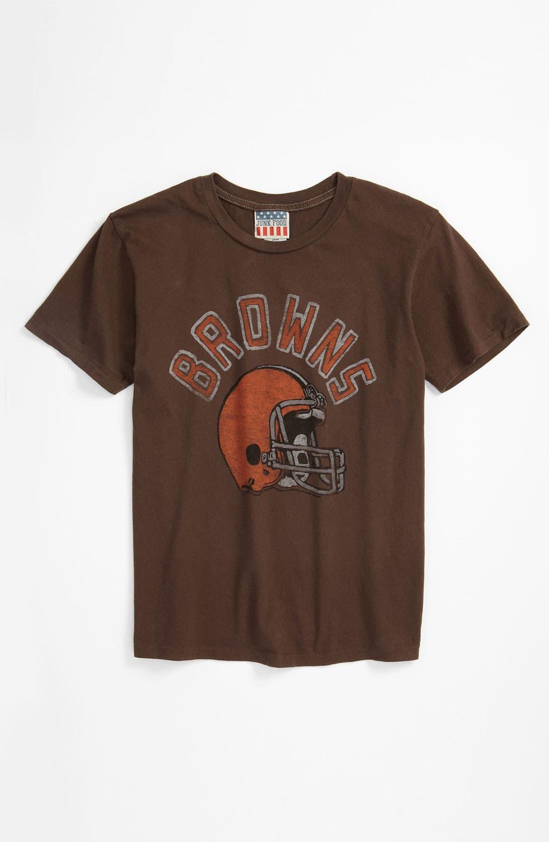 Main Image - Junk Food 'Cleveland Browns' T-Shirt (Big Boys)