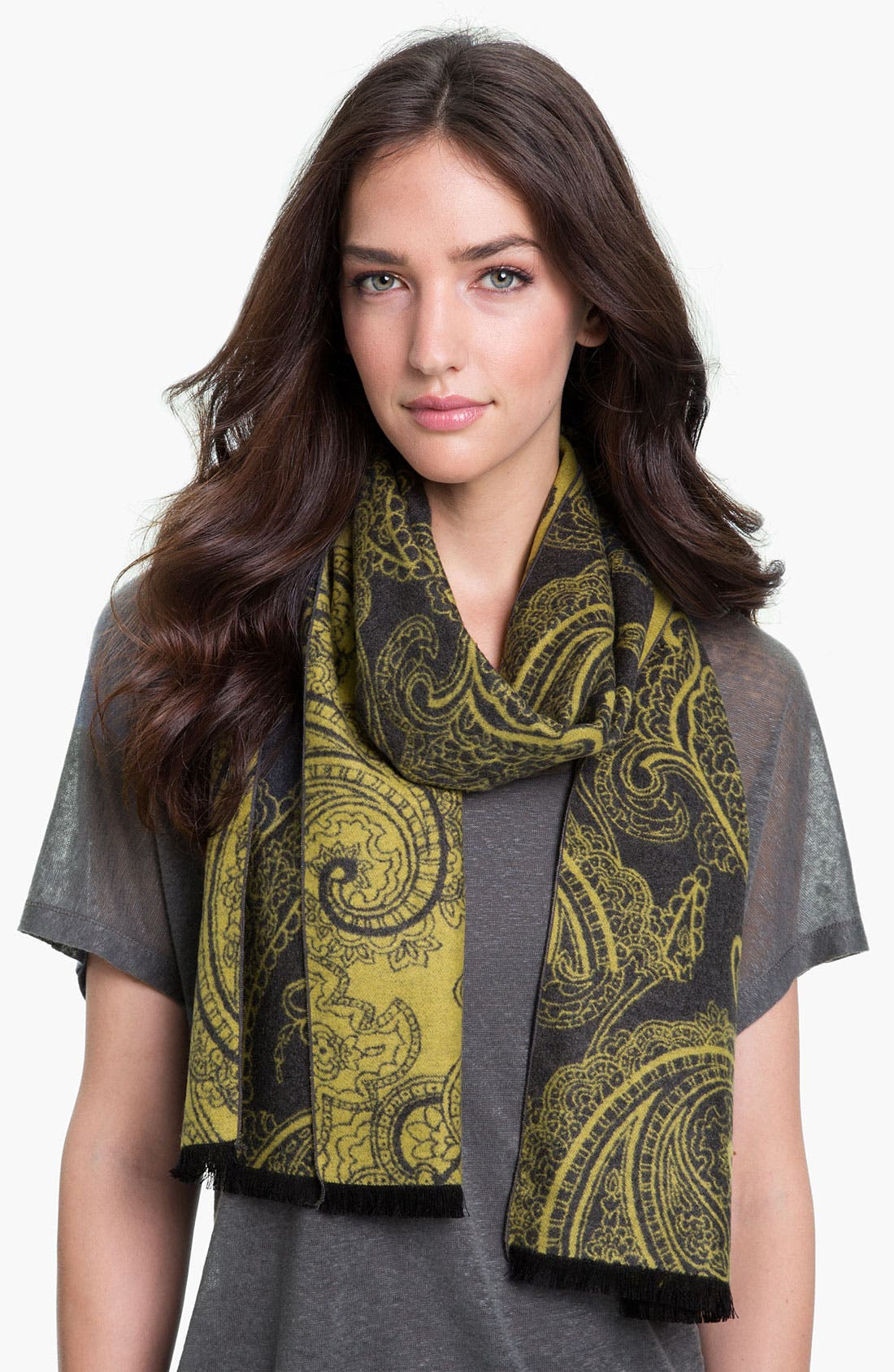Alternate Image 1 Selected - Chelsey Imports Paisley Woven Silk Muffler