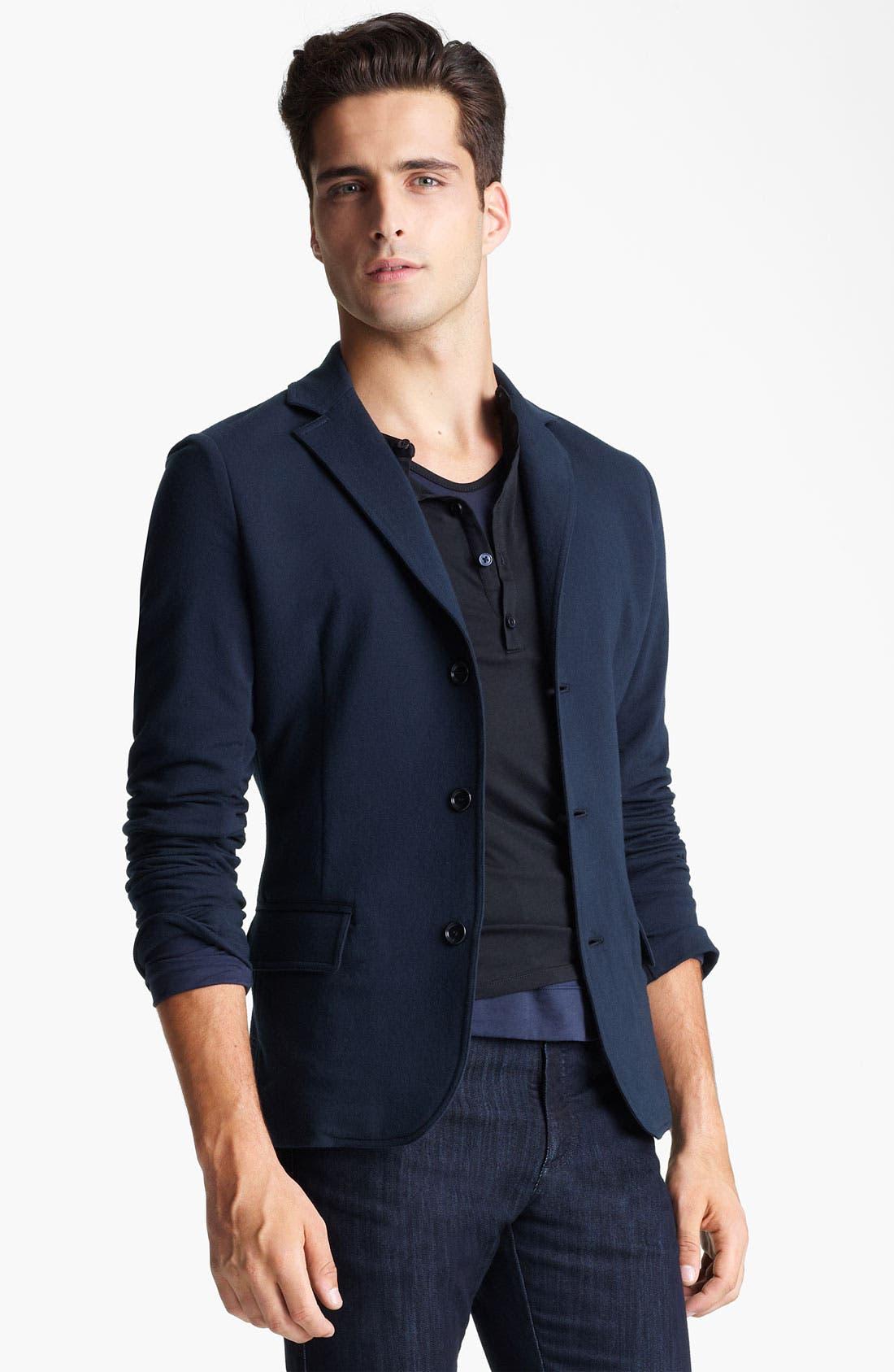 Alternate Image 1 Selected - Z Zegna Jersey Blazer