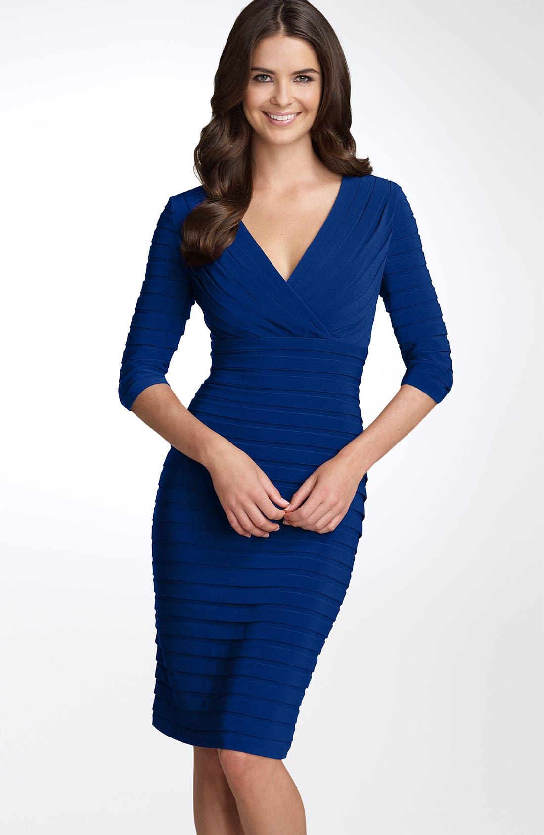 Main Image - Adrianna Papell Pleated Jersey Sheath Dress