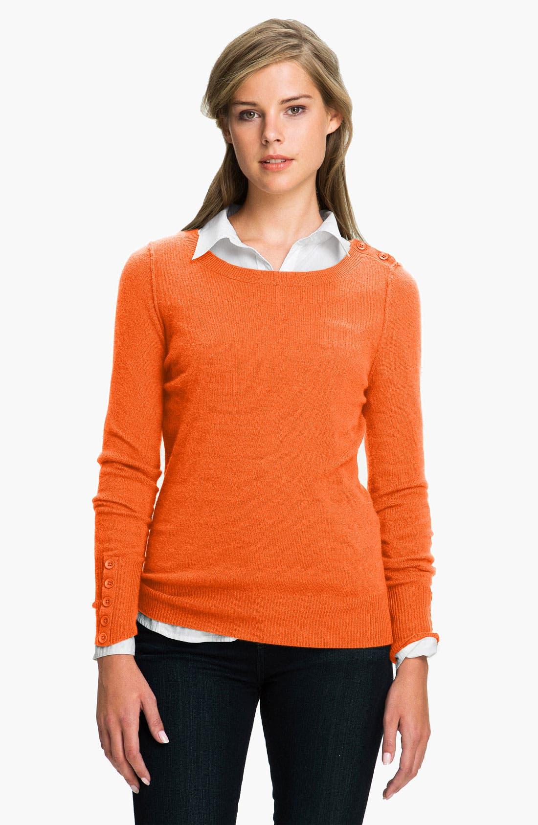 Alternate Image 1 Selected - Caslon® Boatneck Cashmere Sweater