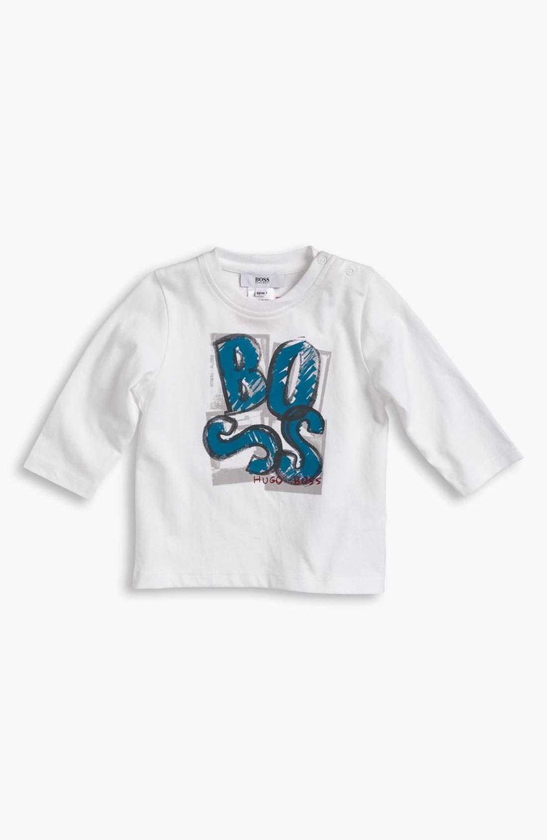 Alternate Image 1 Selected - BOSS Kidswear Long Sleeve T-Shirt (Toddler)