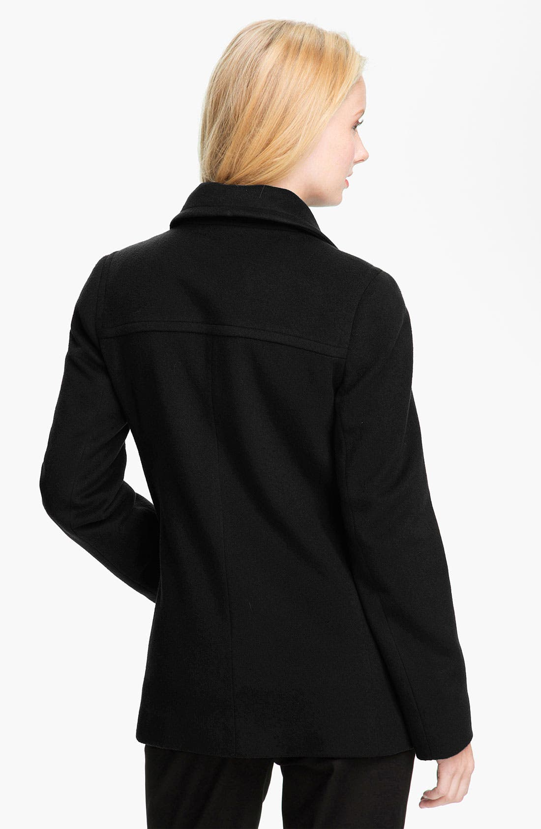 Alternate Image 2  - Fleurette Single Breasted Wool Jacket (Petite)