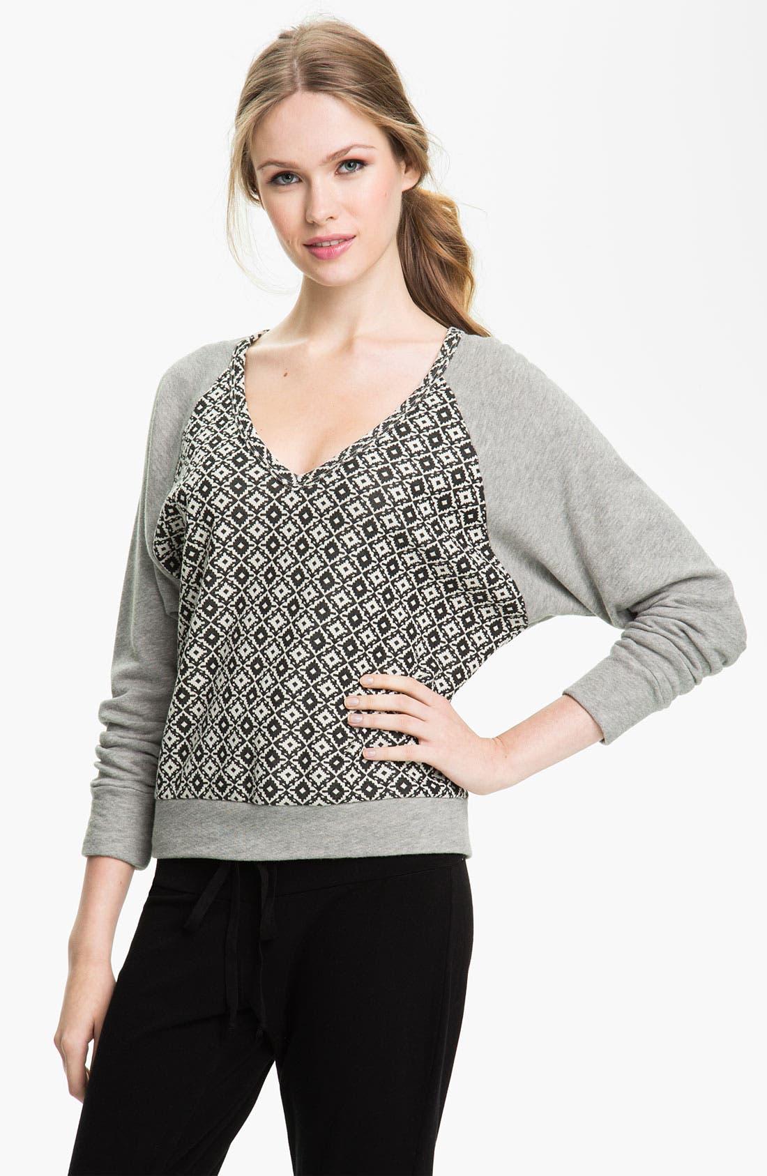 Alternate Image 1 Selected - Pink Lotus 'Adobe' Sweatshirt