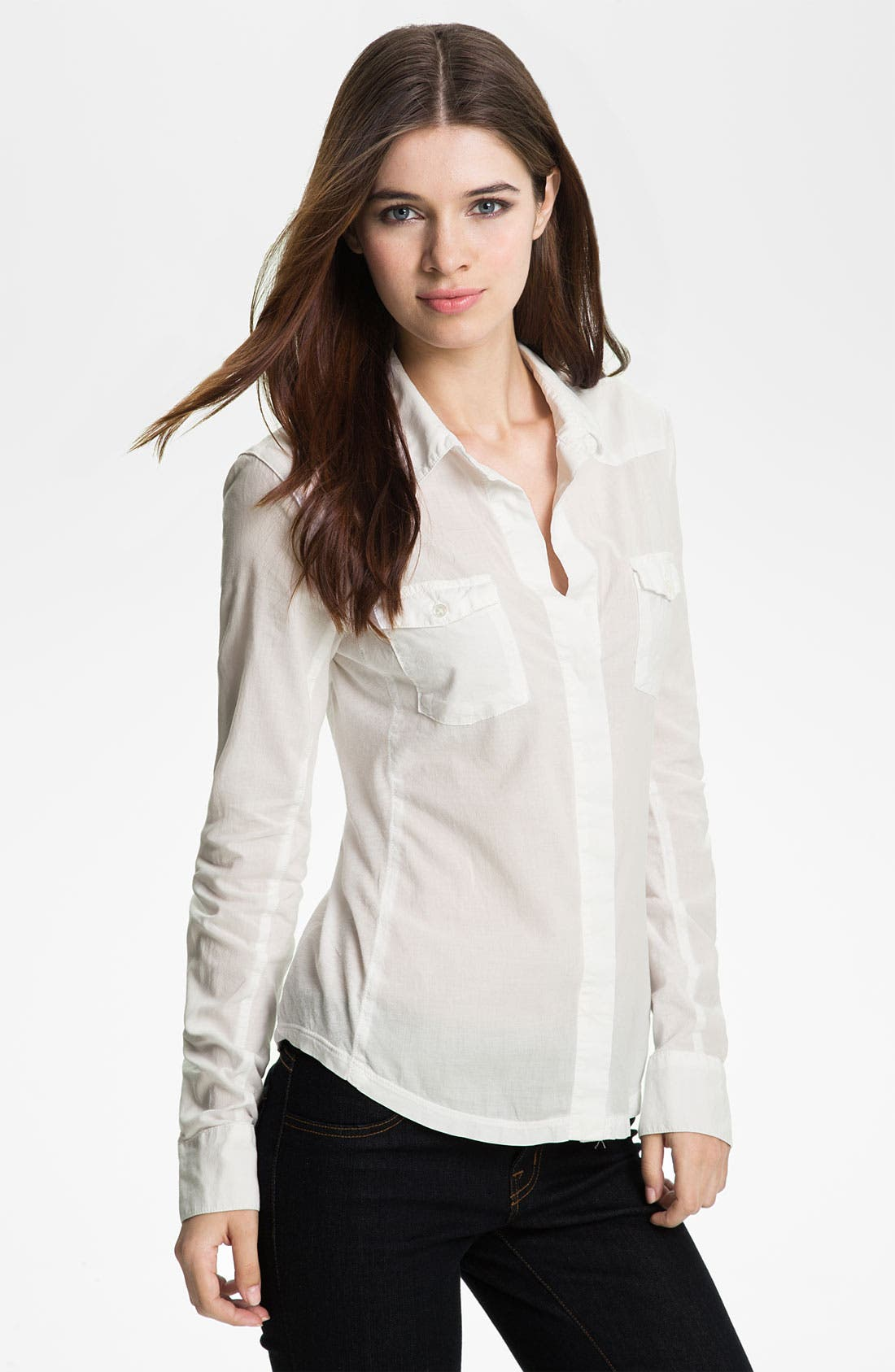 Main Image - James Perse Contrast Panel Western Shirt