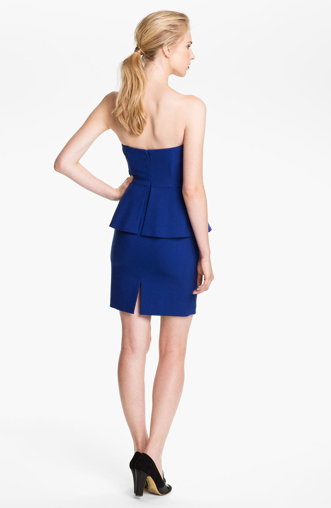 Alternate Image 2  - Tracy Reese Strapless Peplum Dress