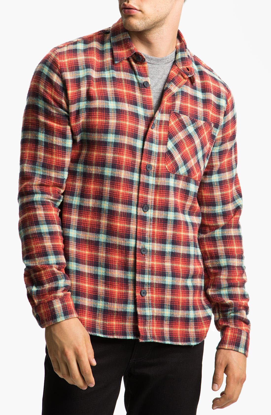 Alternate Image 1 Selected - Nudie 'Marcel' Plaid Flannel Shirt