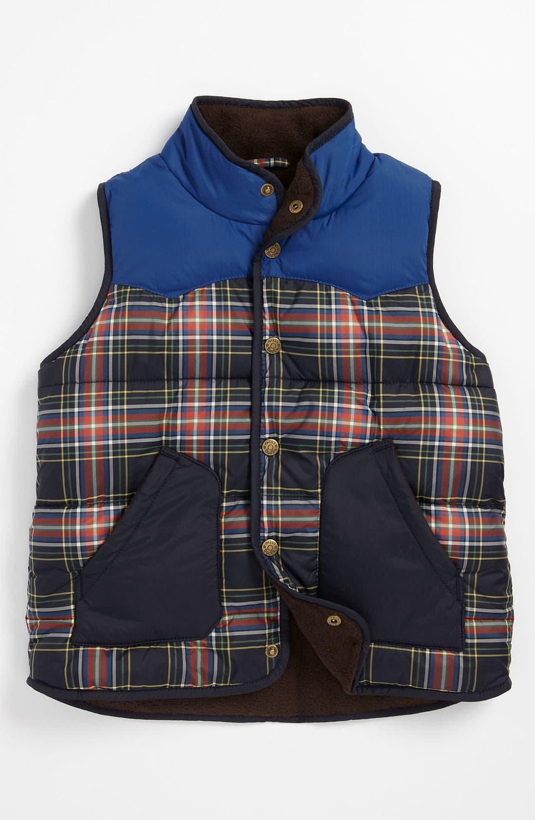 Main Image - Mini Boden Colorblock Vest (Little Boys & Big Boys)