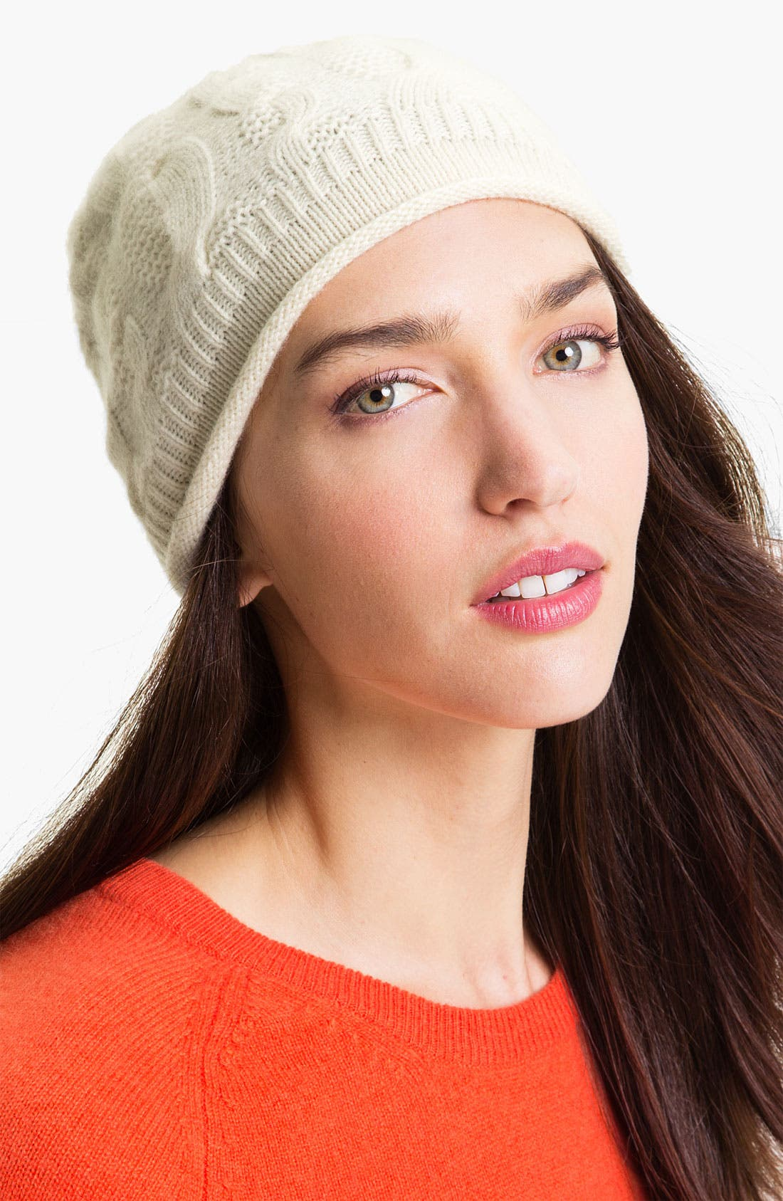 Alternate Image 1 Selected - Nordstrom Textured Cashmere Skull Cap