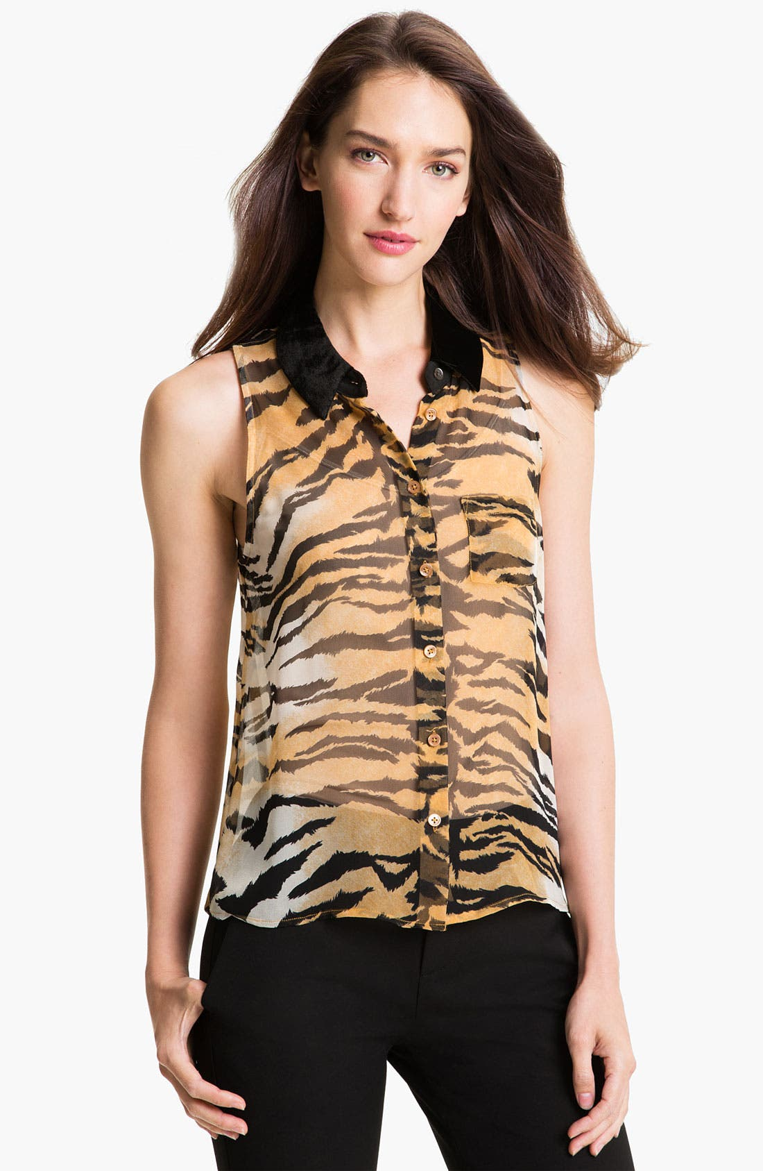 Alternate Image 1 Selected - Equipment 'Bengal' Print Silk Blouse
