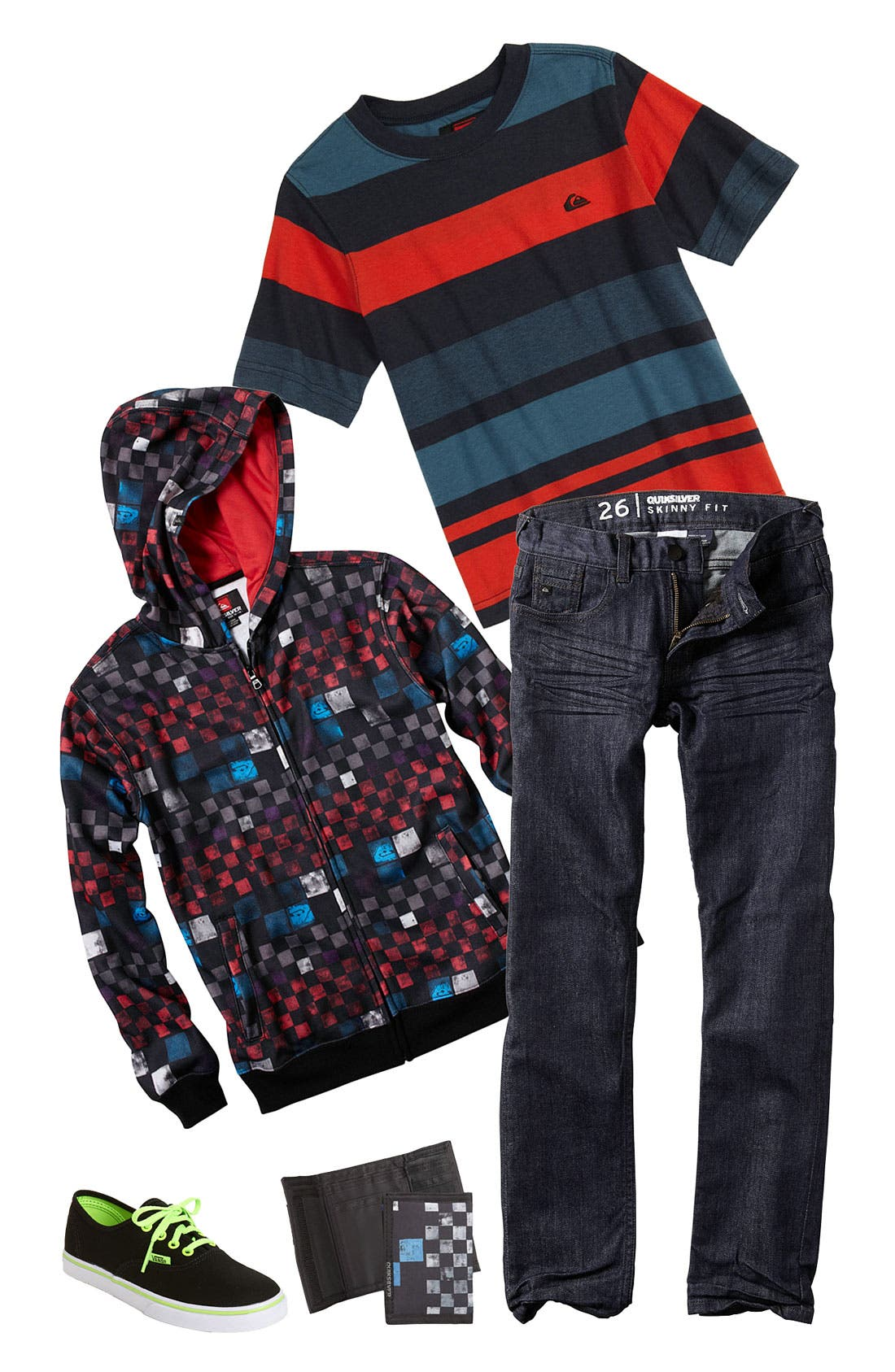 Alternate Image 1 Selected - Quiksilver T-Shirt, Hoodie & Jeans (Big Boys)