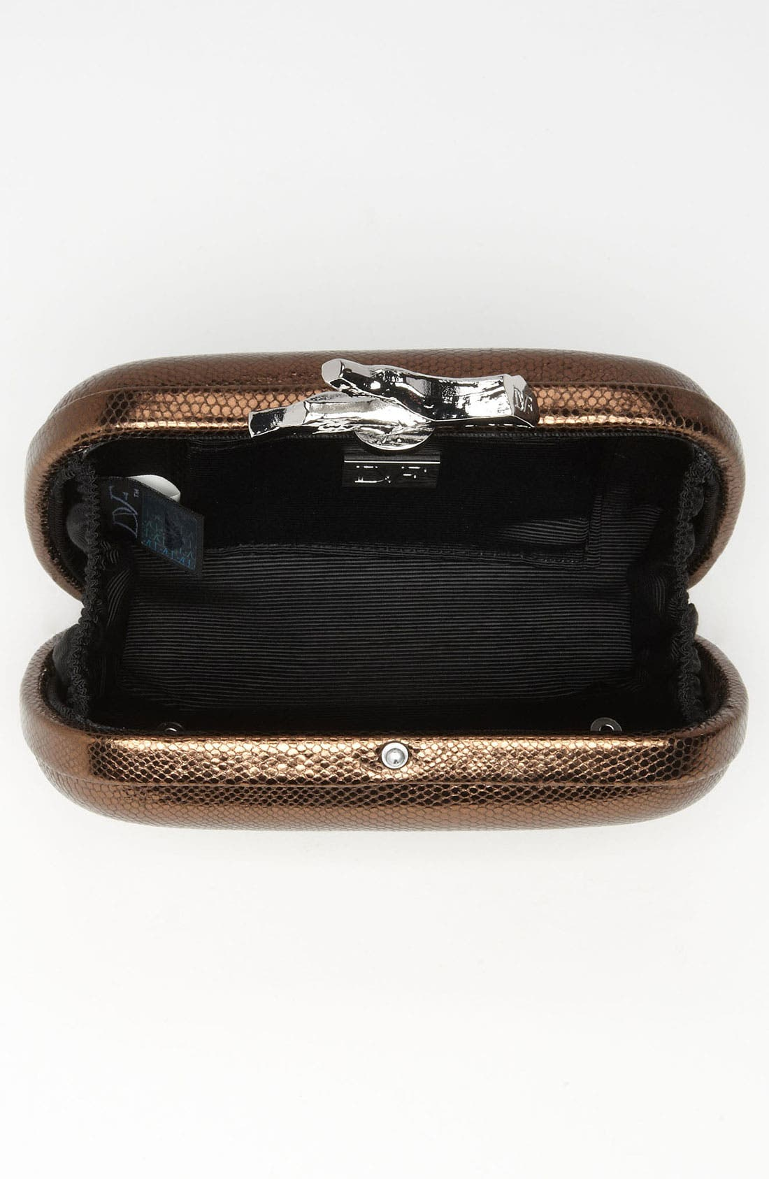 Alternate Image 3  - Diane von Furstenberg 'Lytton - Small' Metallic Leather Clutch