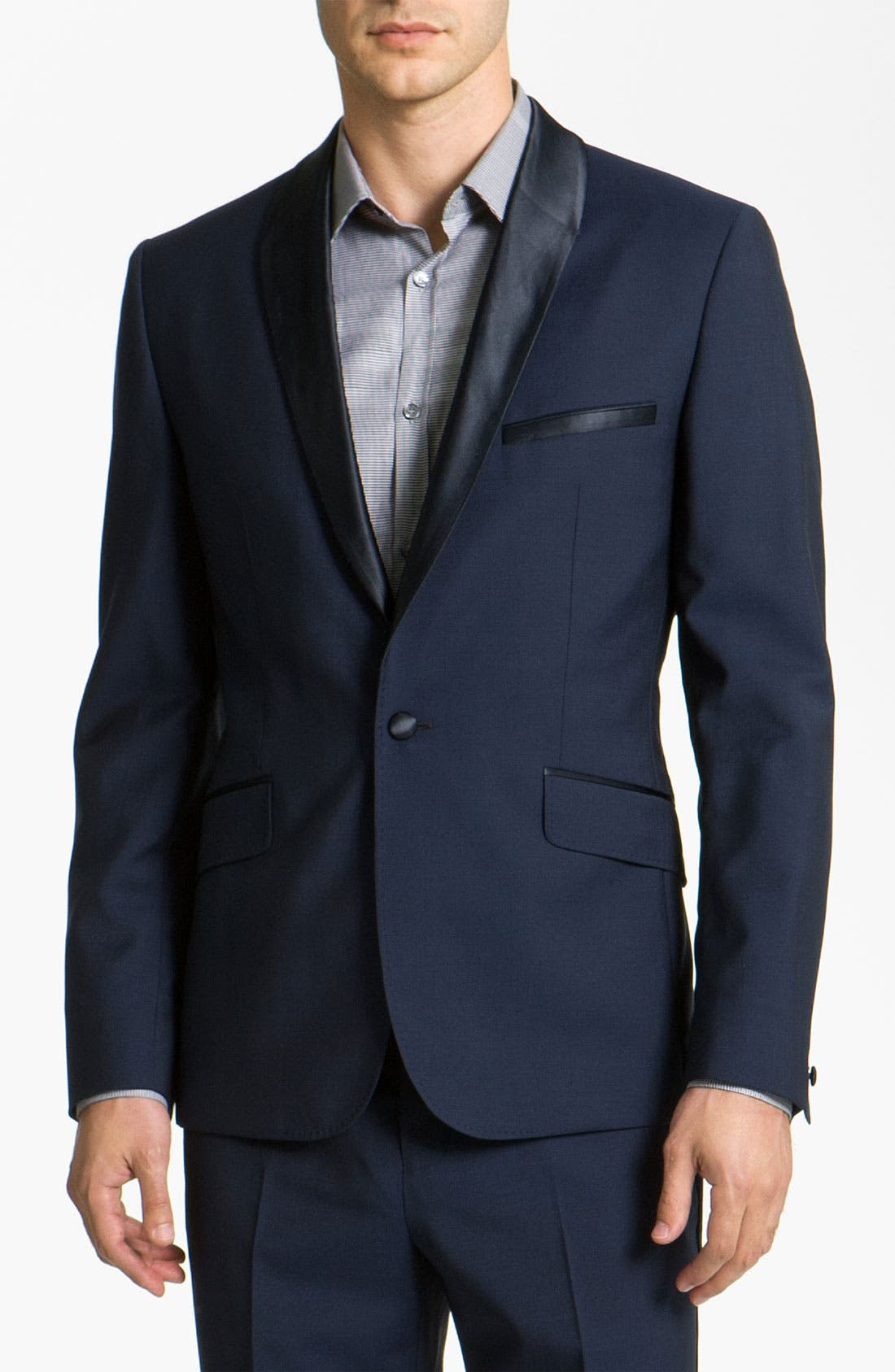 Alternate Image 1 Selected - Ted Baker London Trim Fit Shawl Lapel Tuxedo