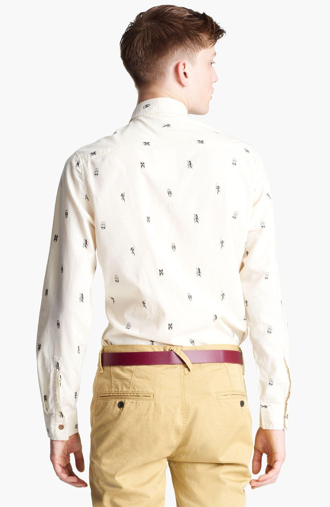 Alternate Image 2  - Topman 'Tiki Man' Woven Shirt