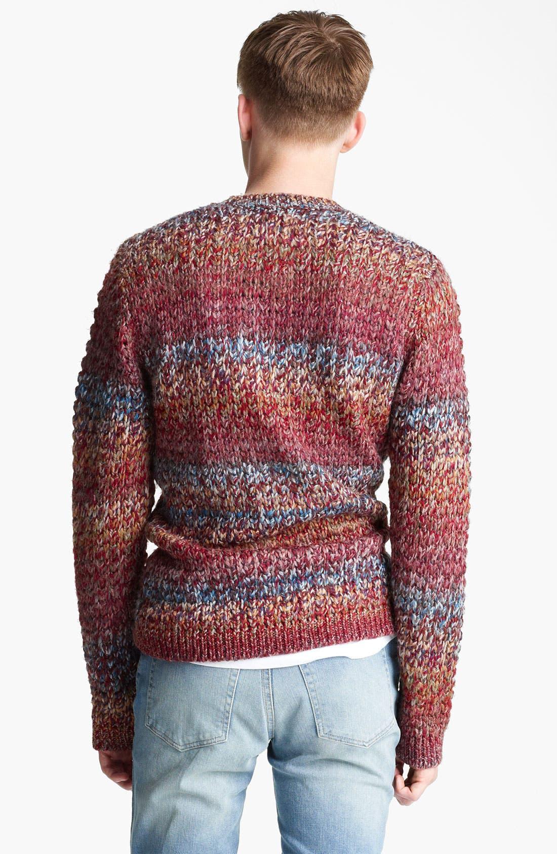 Alternate Image 2  - Topman Ombré Knit Crewneck Sweater
