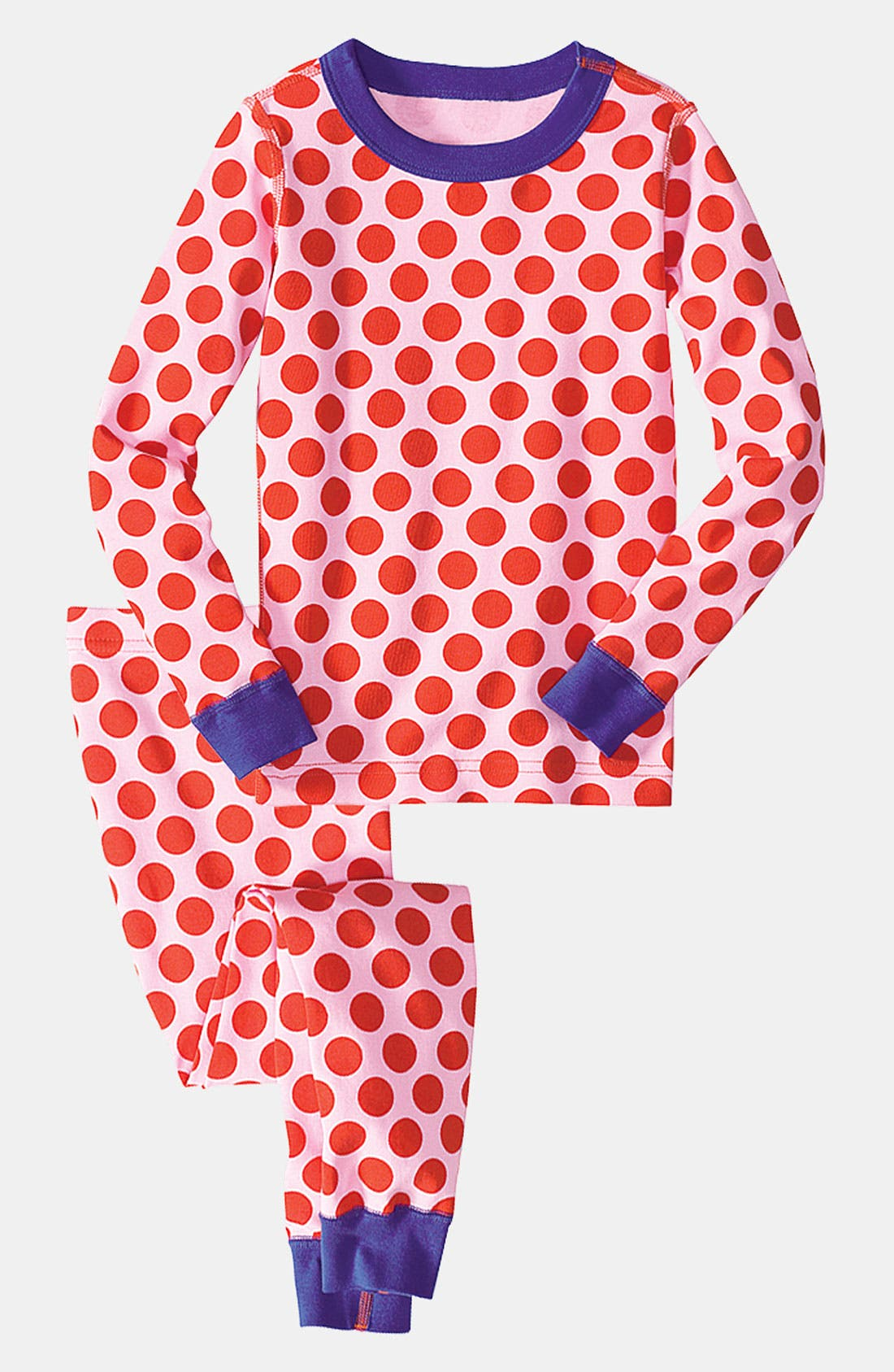 Alternate Image 1 Selected - Hanna Andersson Fitted Two Piece Pajamas (Little Girls & Big Girls)