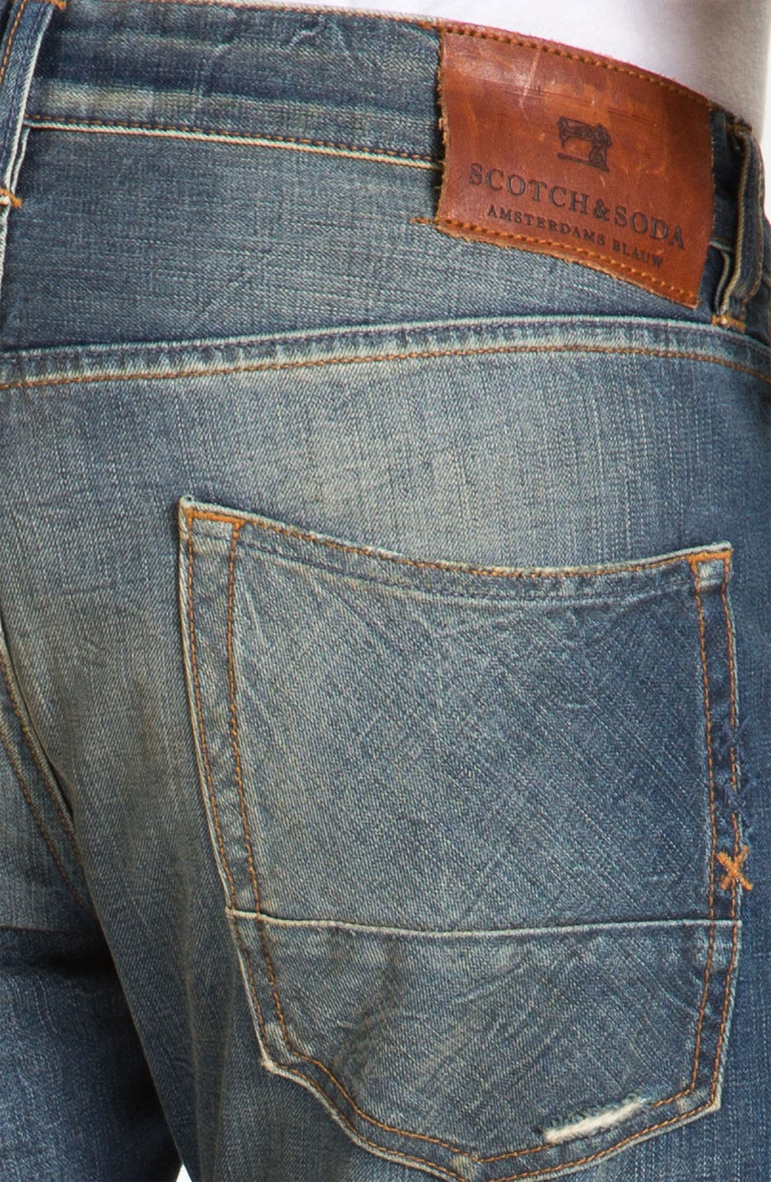 Alternate Image 4  - Scotch & Soda 'Ralston' Slim Straight Leg Jeans (Downtown)
