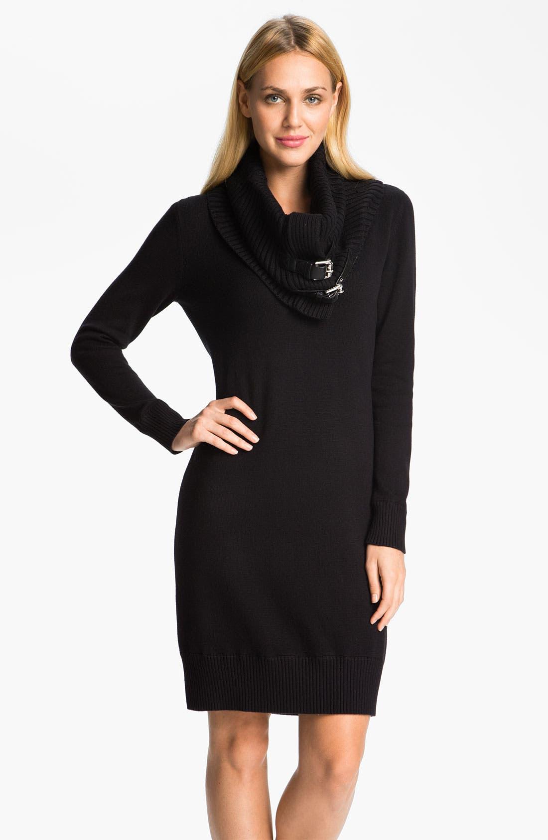 Main Image - MICHAEL Michael Kors Sweater Dress with Detachable Cowl
