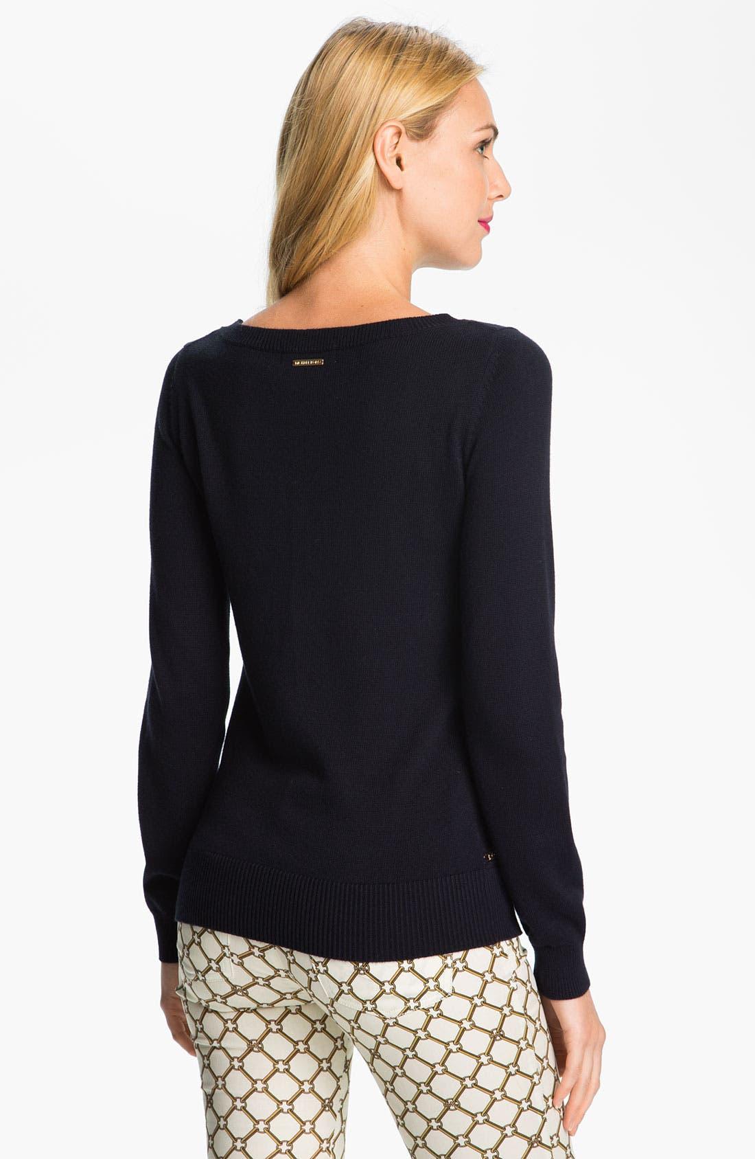 Alternate Image 2  - MICHAEL Michael Kors Chain Stripe Sweater