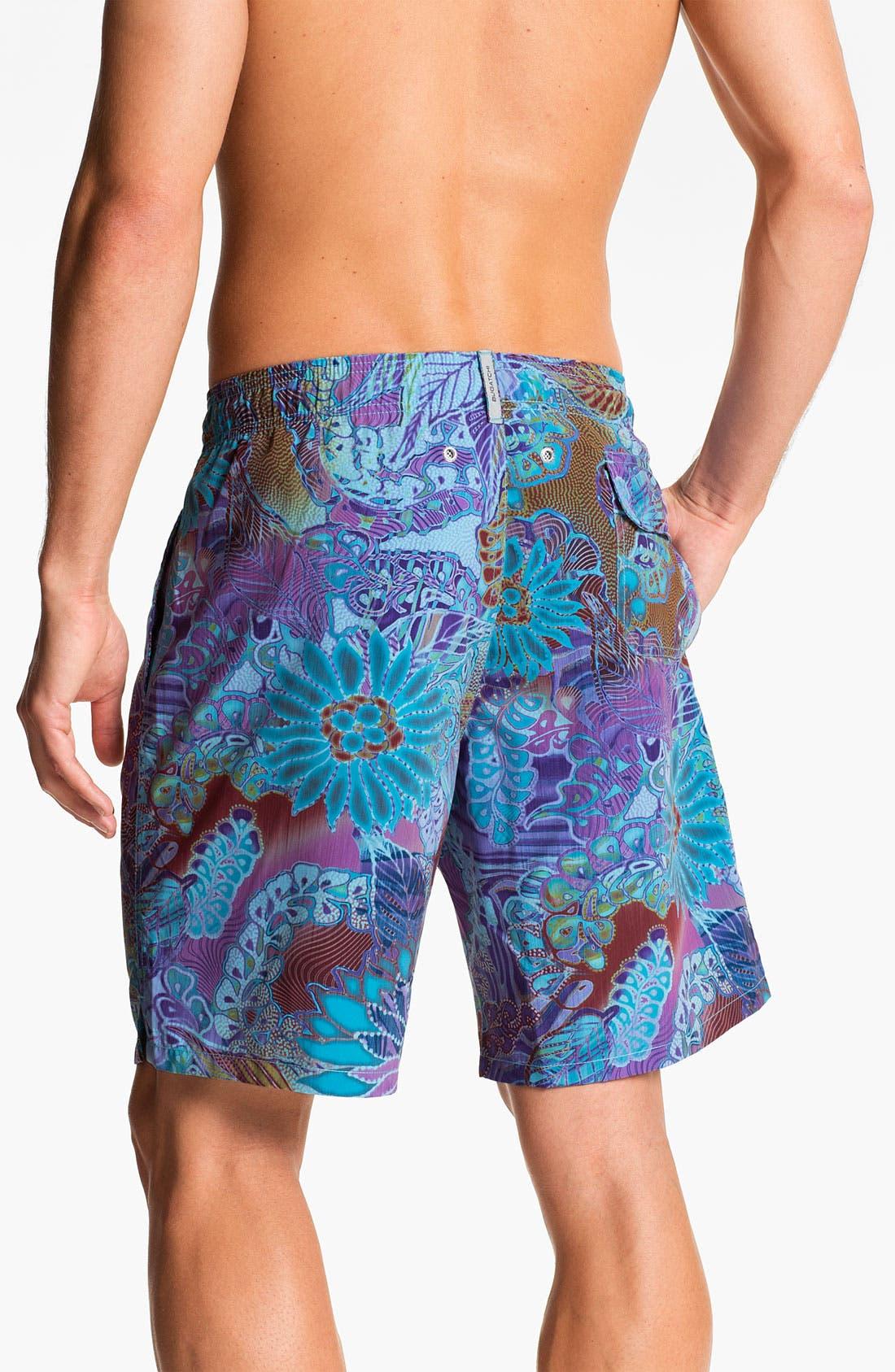 Alternate Image 2  - Bugatchi Uomo Print Board Shorts