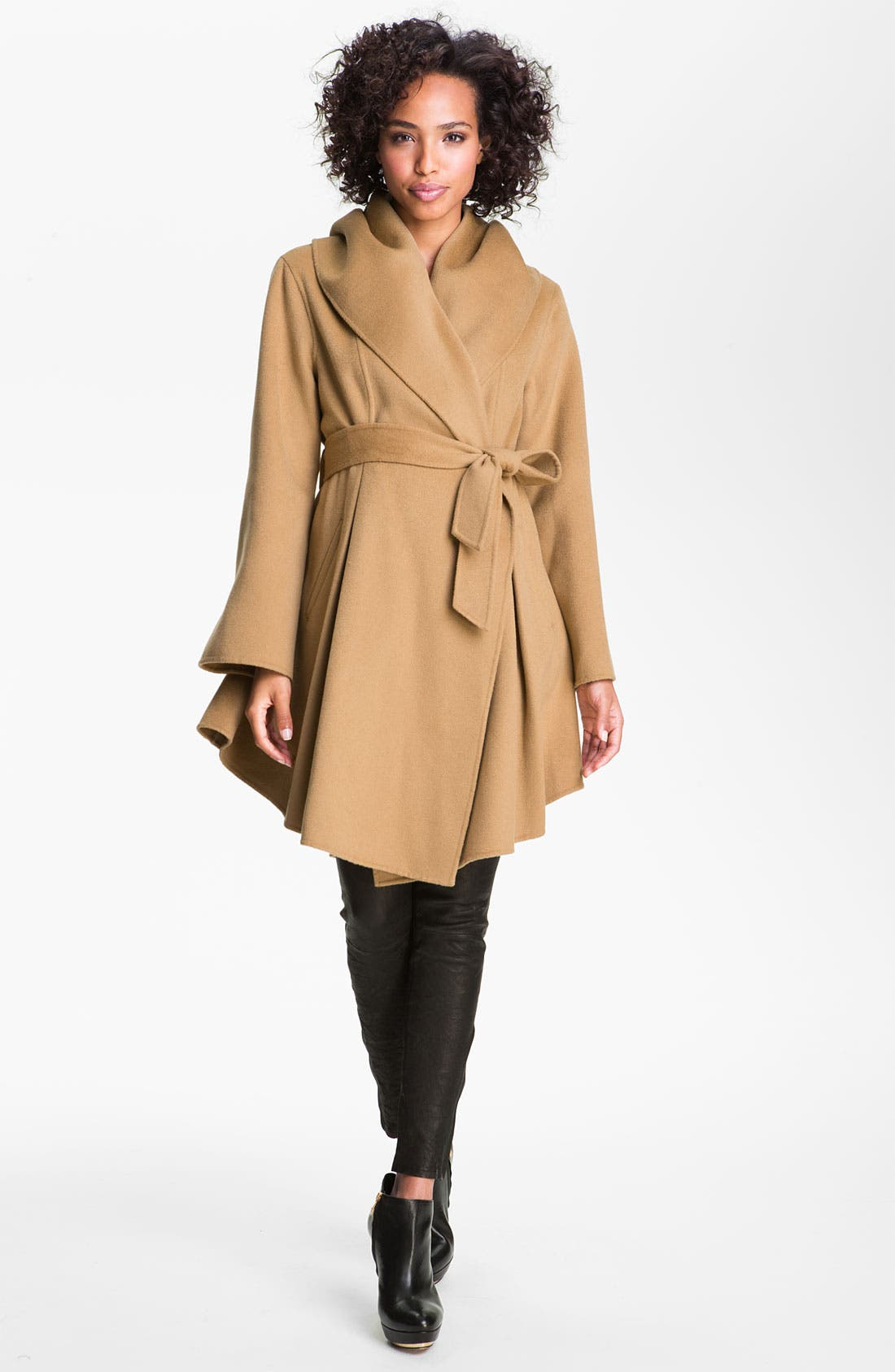 Alternate Image 1 Selected - Dawn Levy Wool & Cashmere Wrap Coat (Online Exclusive)