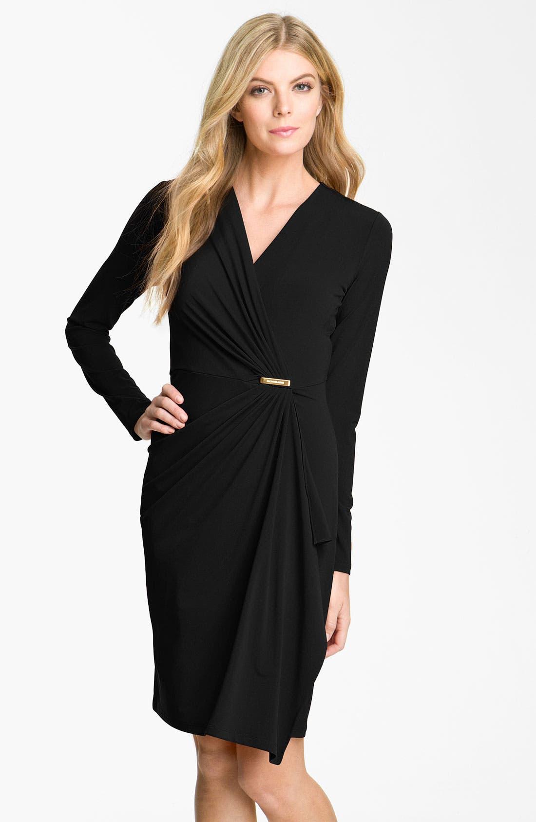 Alternate Image 1 Selected - MICHAEL Michael Kors Long Sleeve Wrap Dress (Plus)