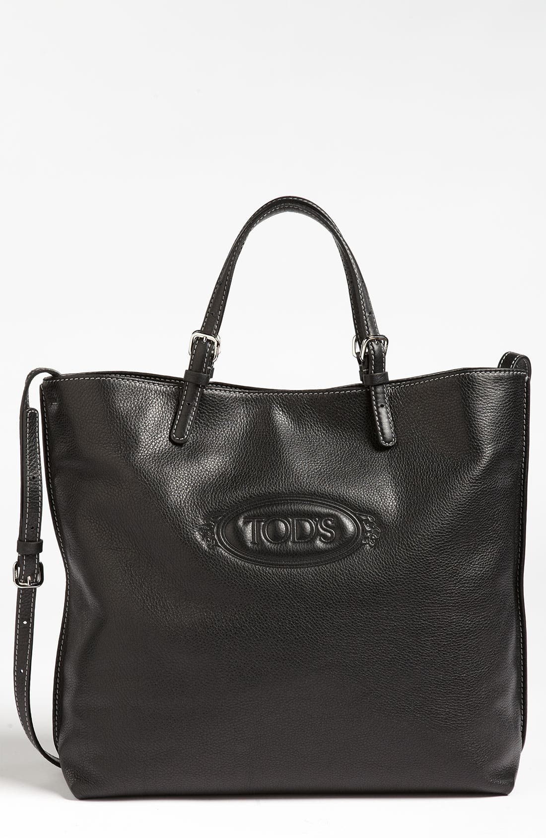 Alternate Image 1 Selected - Tod's 'Logo - Media' Leather Shopper