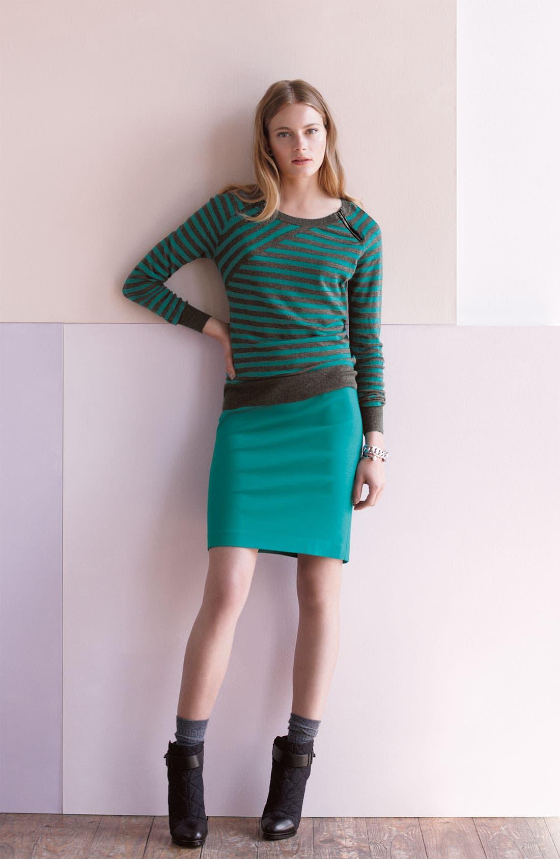 Alternate Image 2  - Halogen Crew Neck Sweater and Pencil Skirt