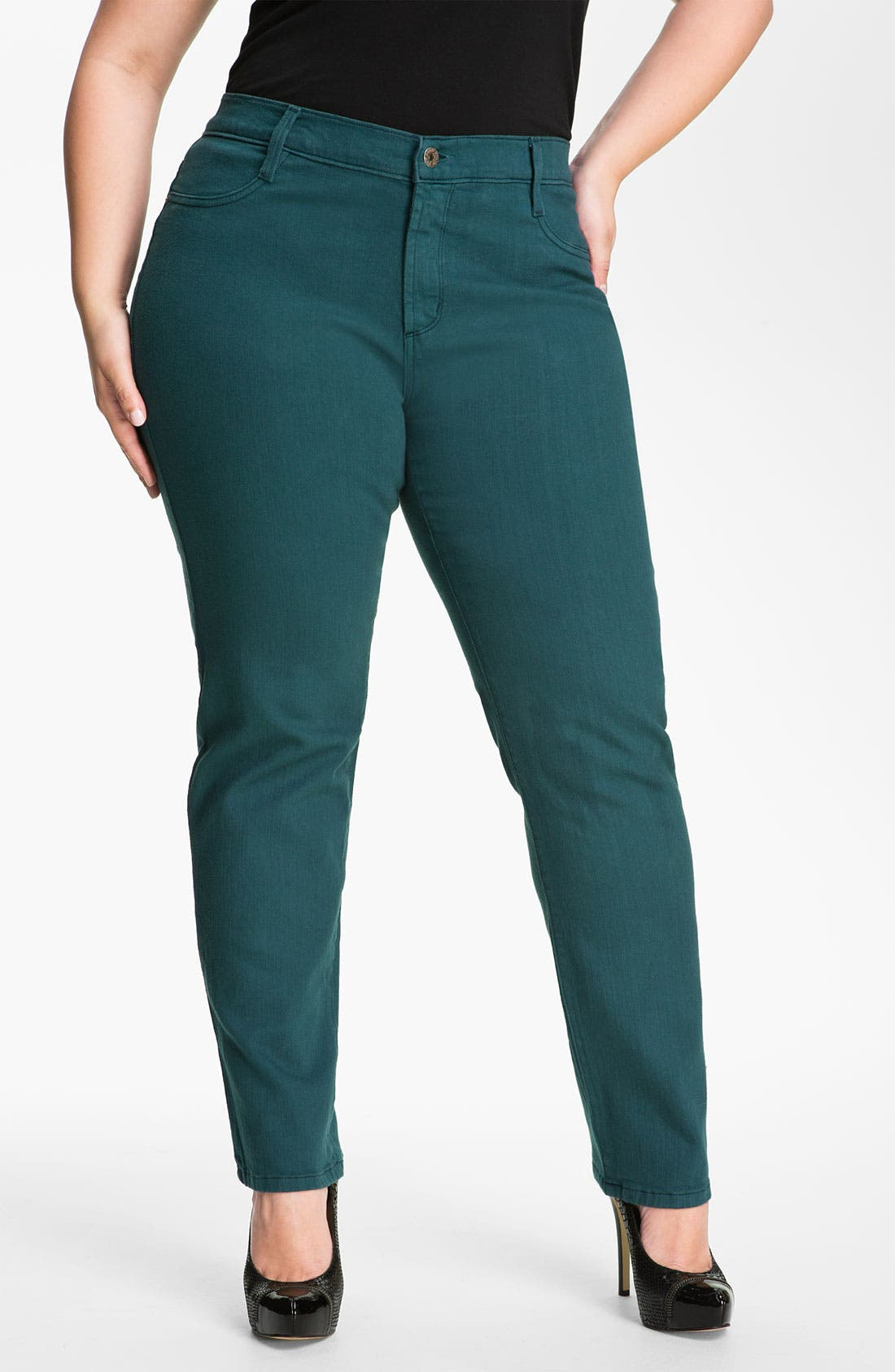 Alternate Image 1 Selected - James Jeans Stretch Denim Leggings (Plus)