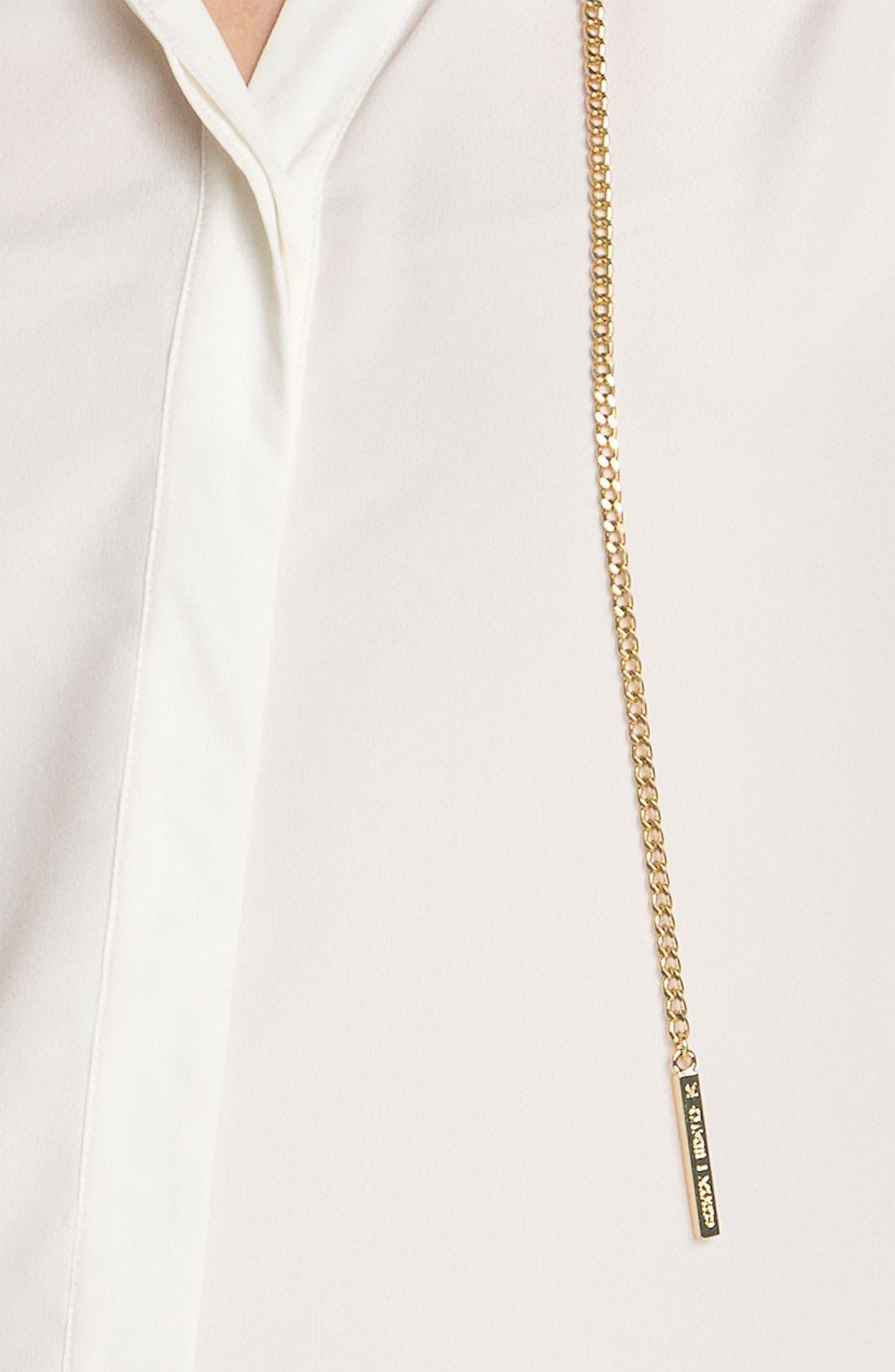 Alternate Image 3  - MICHAEL Michael Kors Chain Detail Crepe Blouse