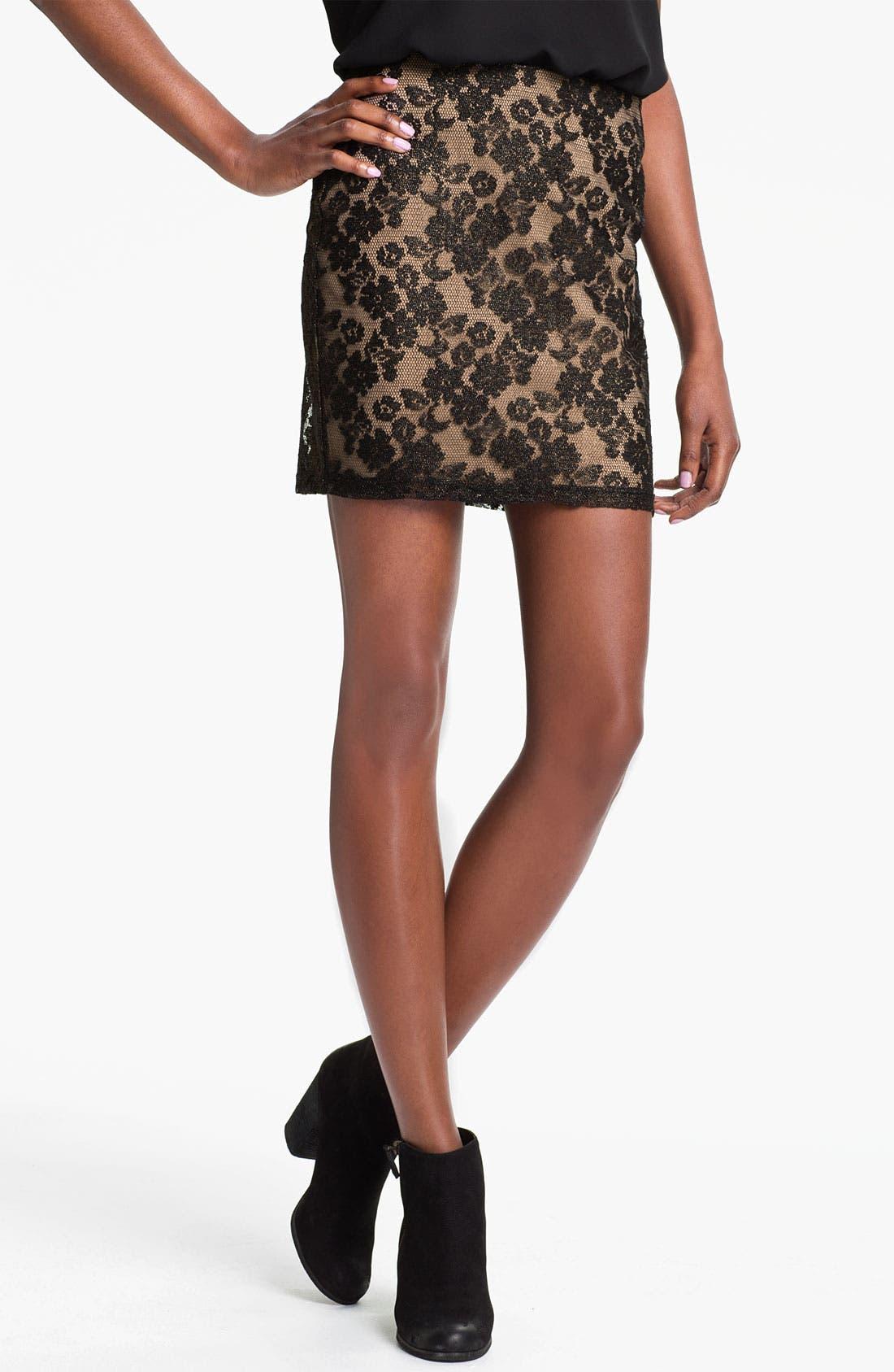 Alternate Image 1 Selected - Lush Lace Skirt (Juniors)
