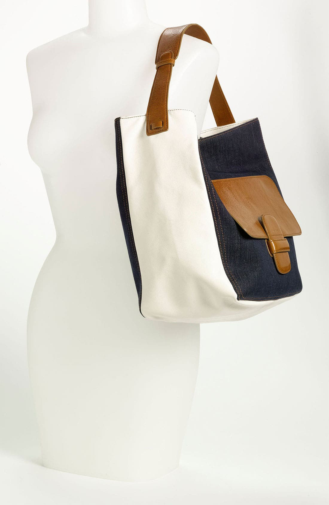Alternate Image 2  - MARC JACOBS Denim & Leather Hobo