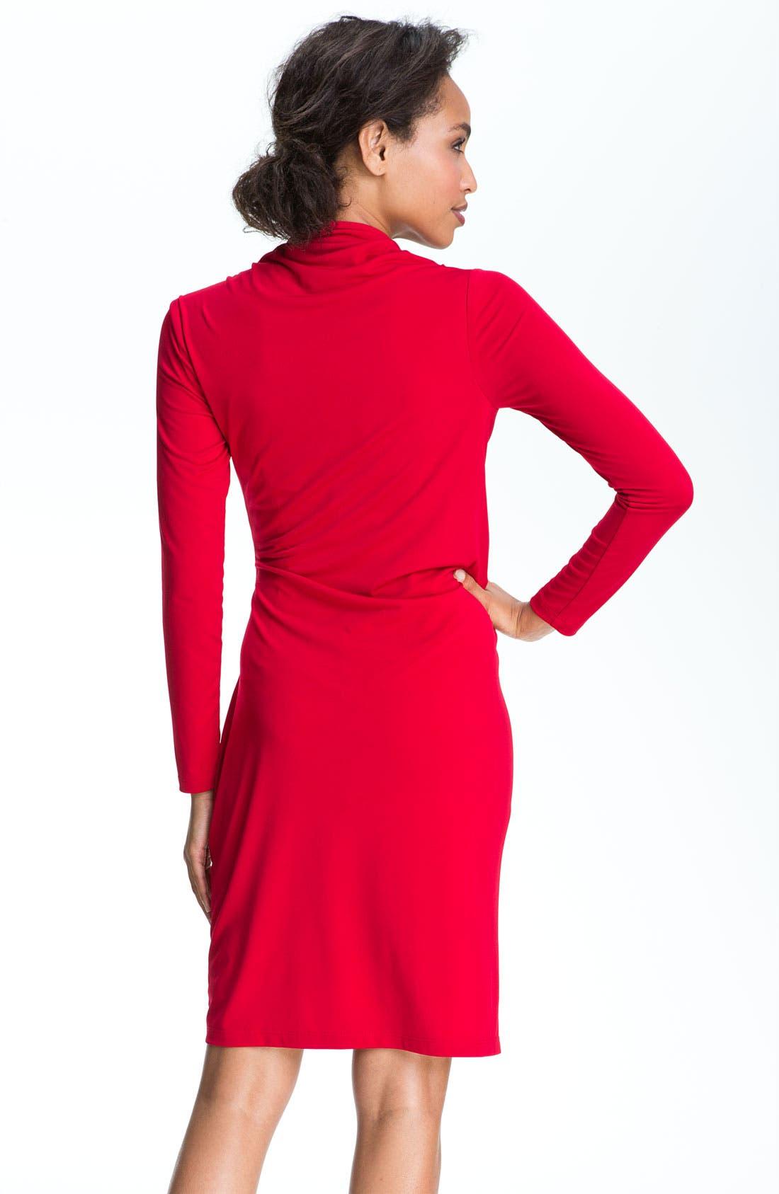 Alternate Image 2  - David Meister Asymmetrical Matte Jersey Sheath Dress