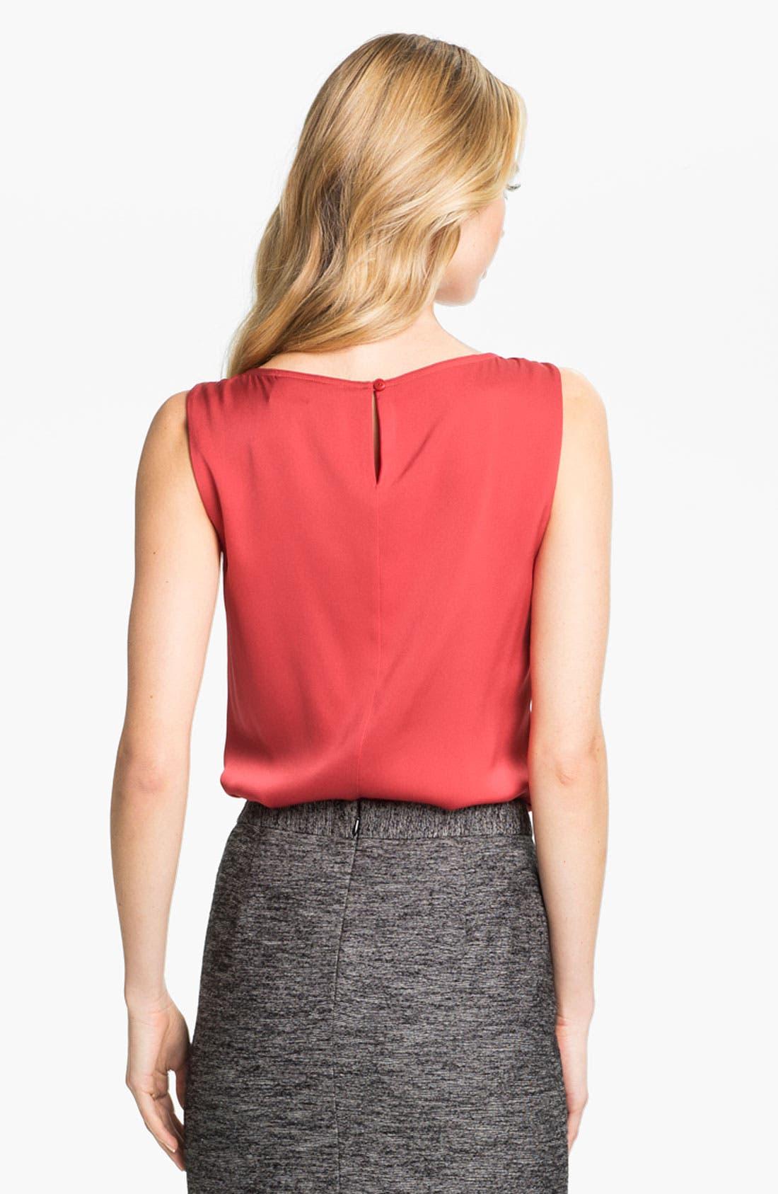 Alternate Image 2  - Classiques Entier® Pintuck Stretch Silk Blouse