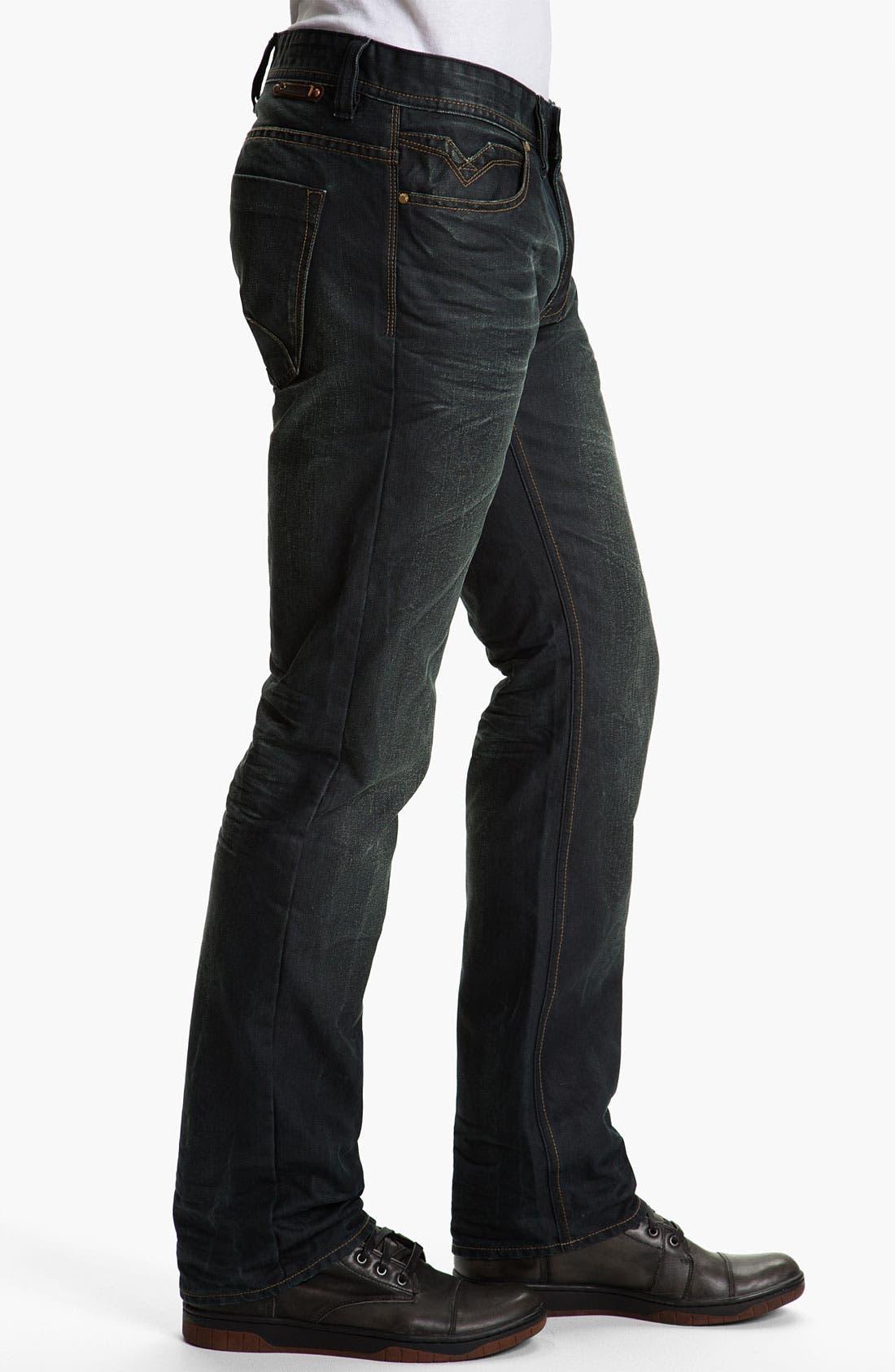 Alternate Image 3  - Projek Raw Relaxed Straight Leg Jeans (Dark Blue)