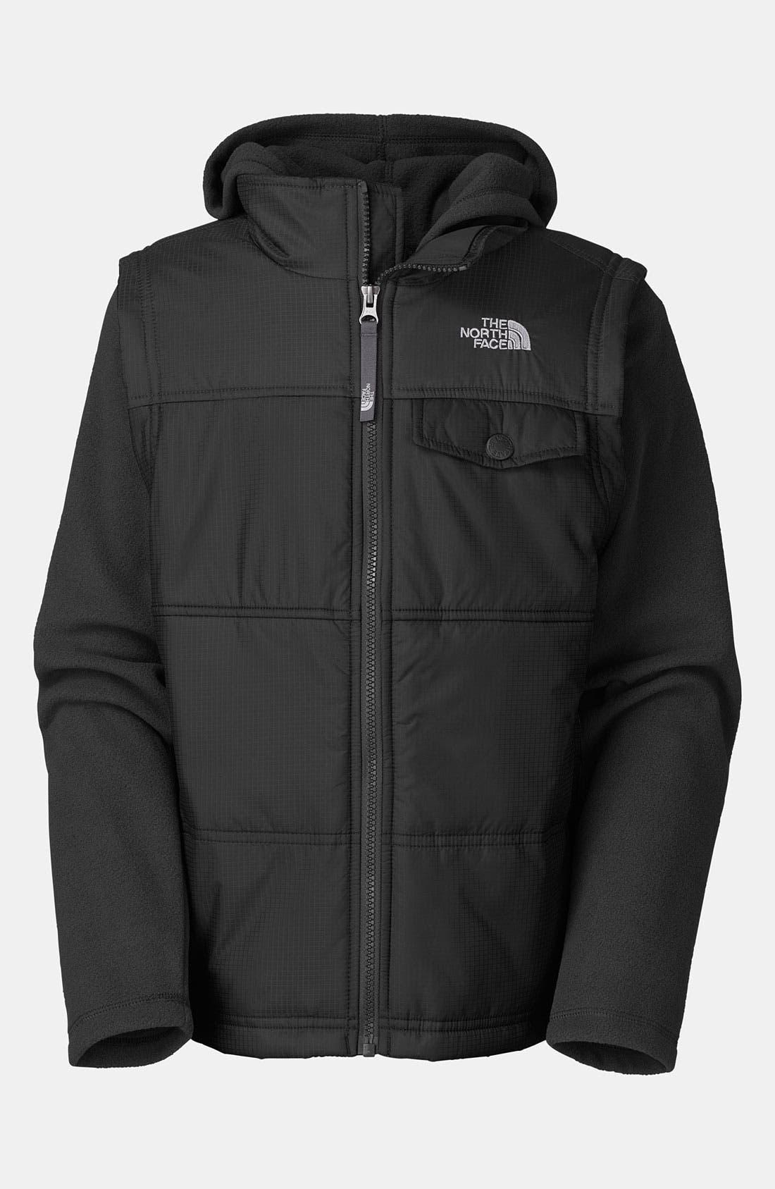 Alternate Image 1 Selected - The North Face 'Vesty Vest' Hooded Fleece Jacket (Big Boys)