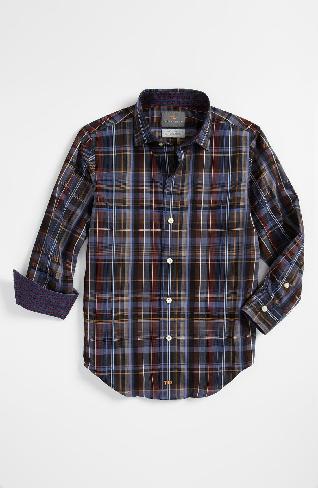 Main Image - Thomas Dean Dress Shirt (Big Boys)