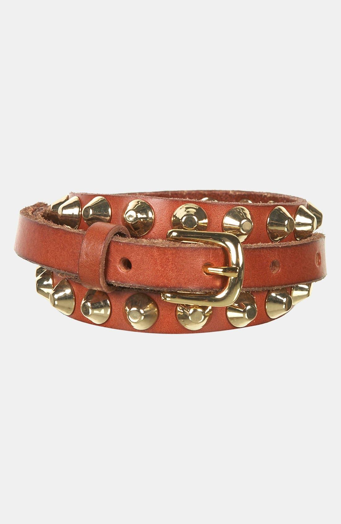 Alternate Image 3  - Topshop 'Grunge' Studded Leather Belt
