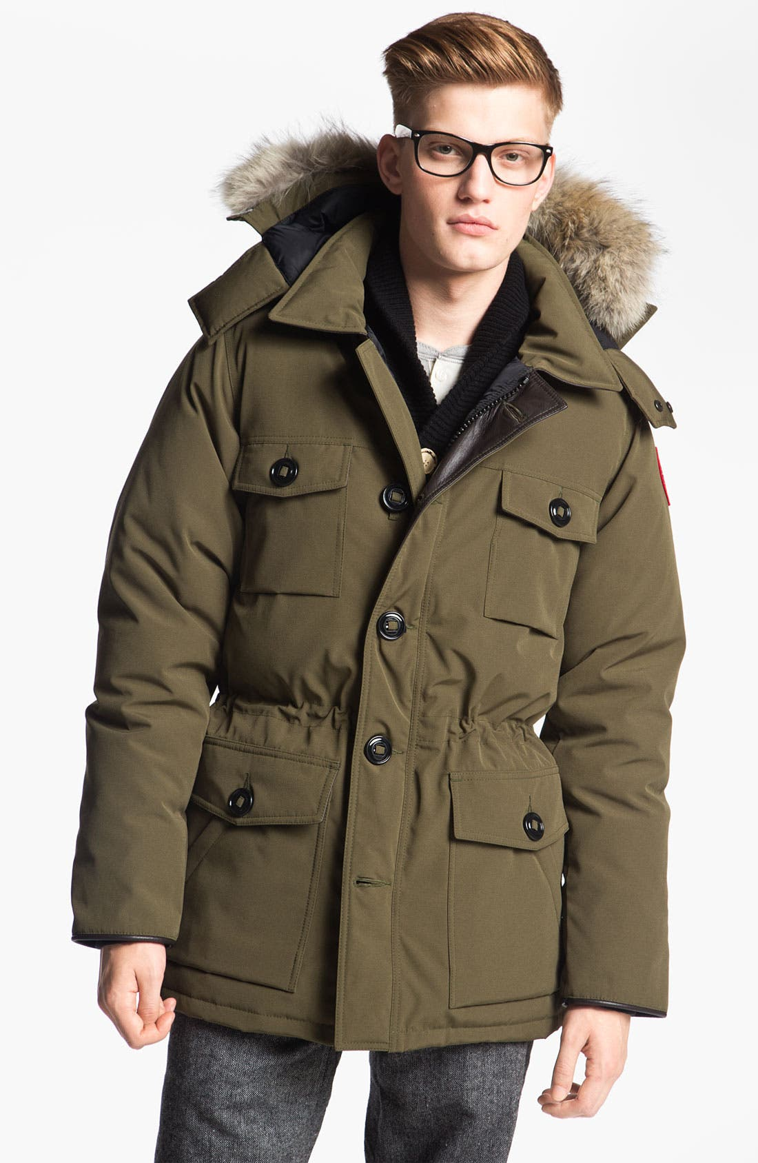 Canada Goose 'Banff' Slim Fit Parka with Genuine Coyote Fur Trim