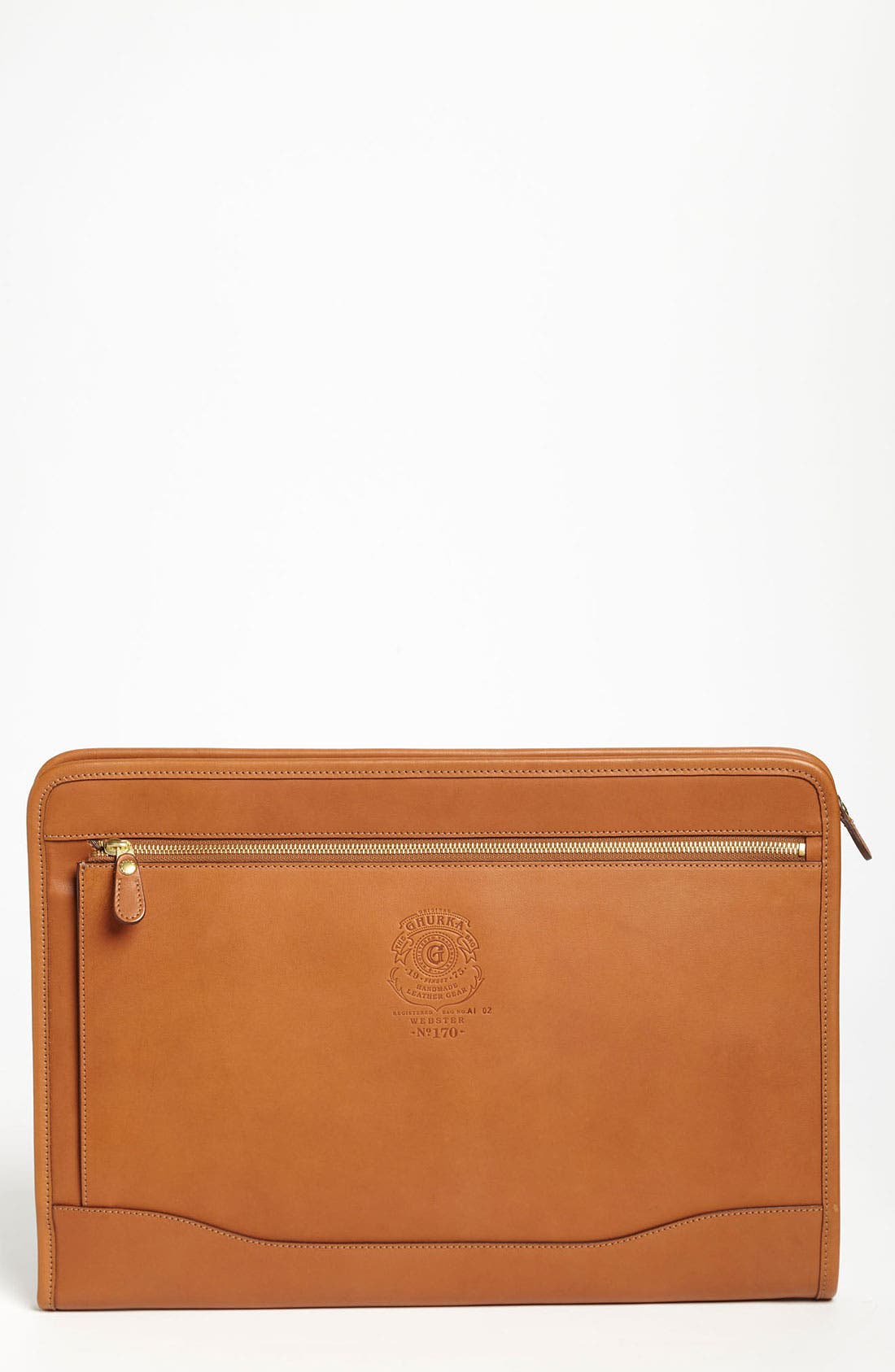Main Image - Ghurka 'Webster' Leather Laptop Case