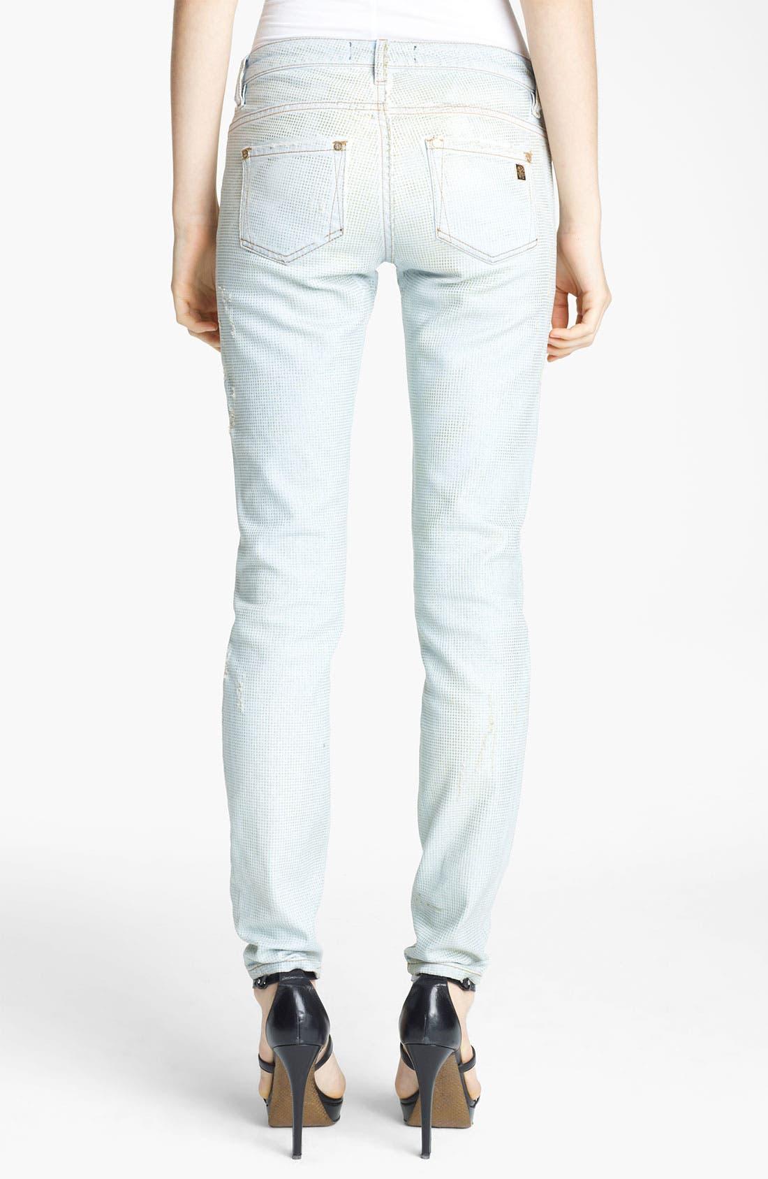 Alternate Image 2  - Roberto Cavalli Crystal Encrusted Skinny Jeans