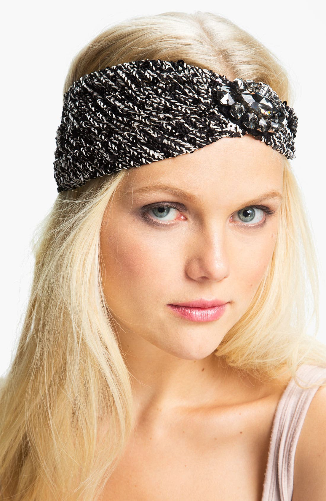 Alternate Image 1 Selected - Cara 'Super Sequin' Head Wrap