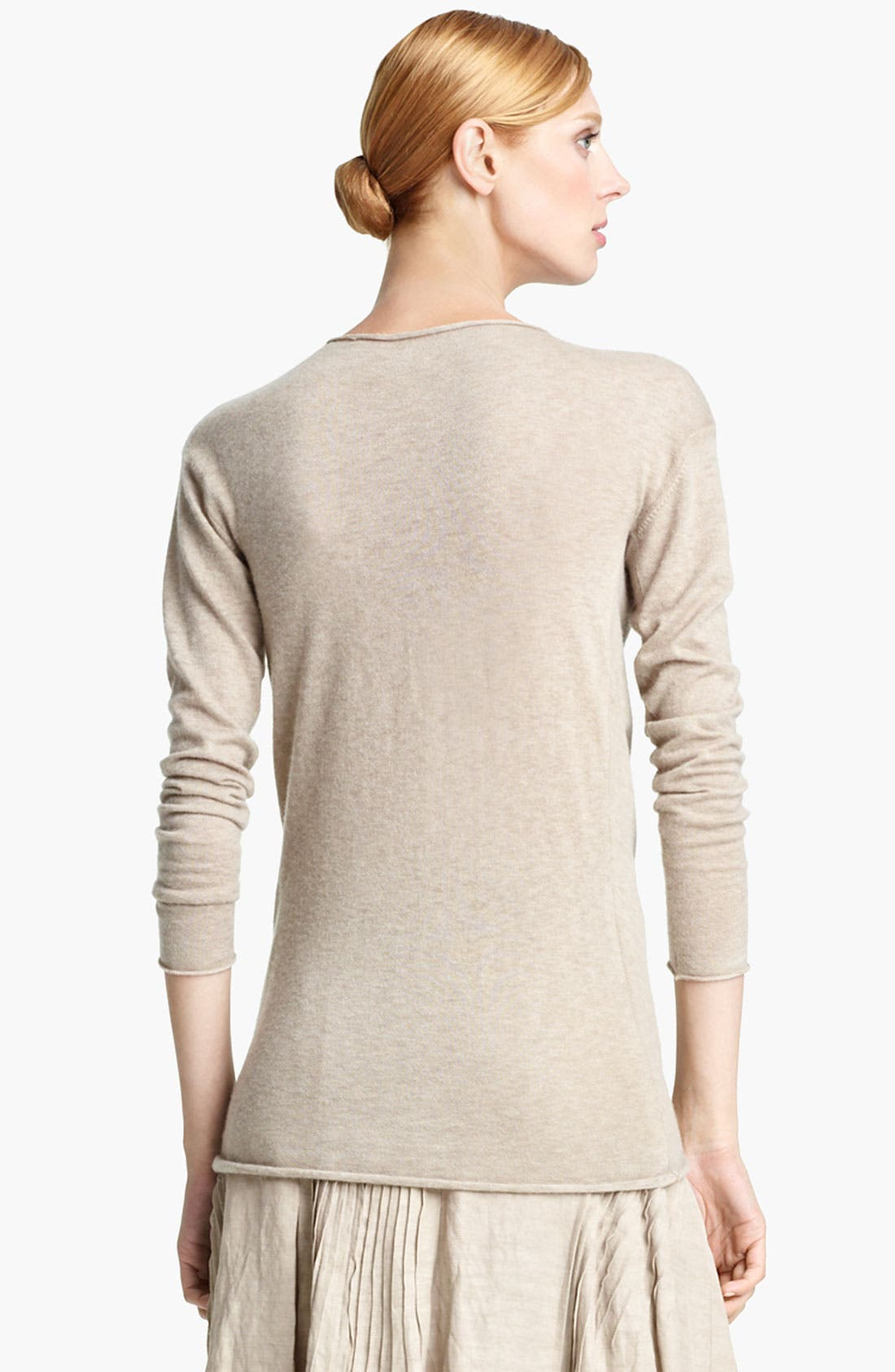 Alternate Image 2  - Donna Karan Collection Draped Cashmere Top
