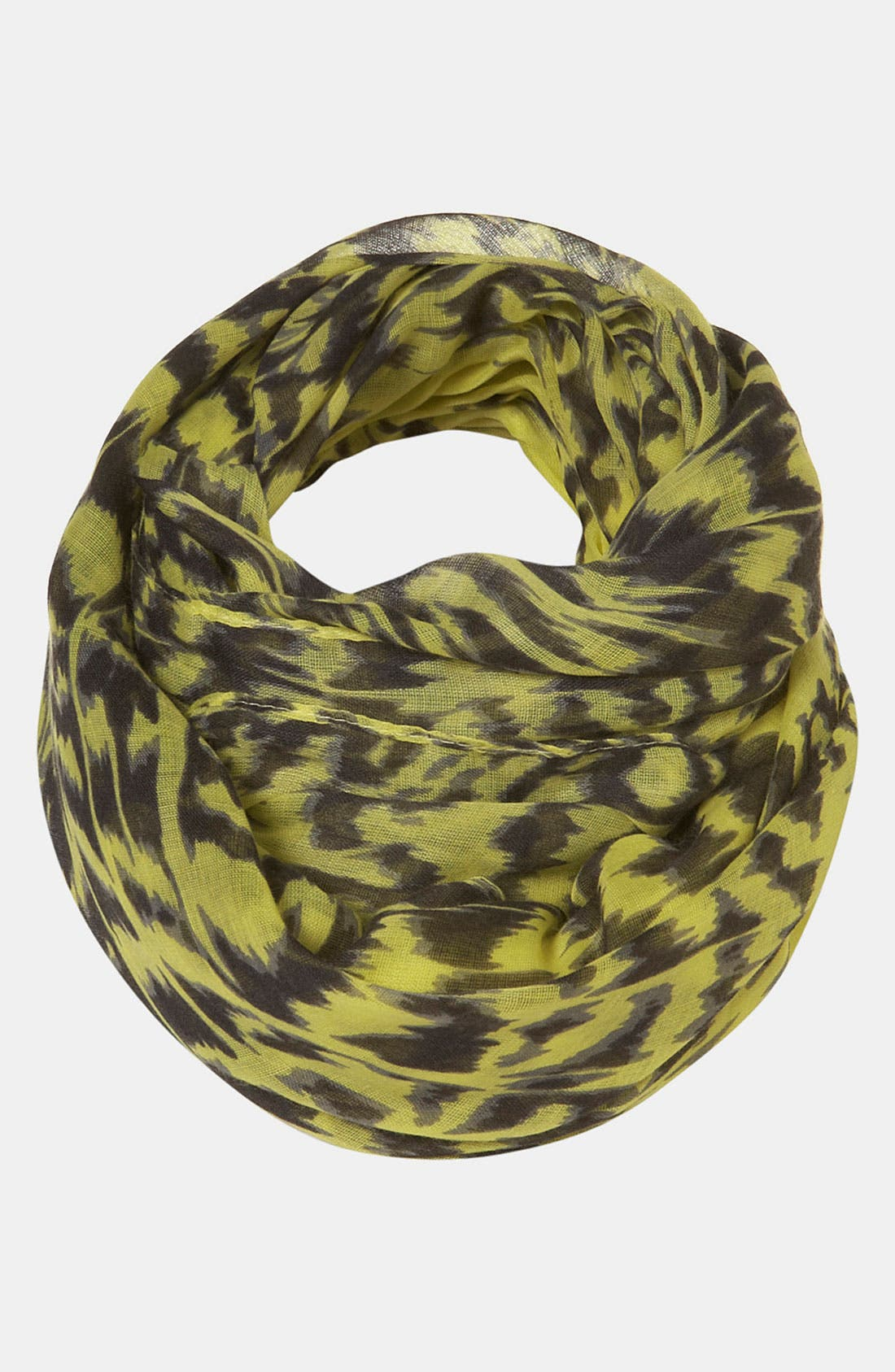 Alternate Image 1 Selected - Topshop 'Lime Leopard' Print Scarf