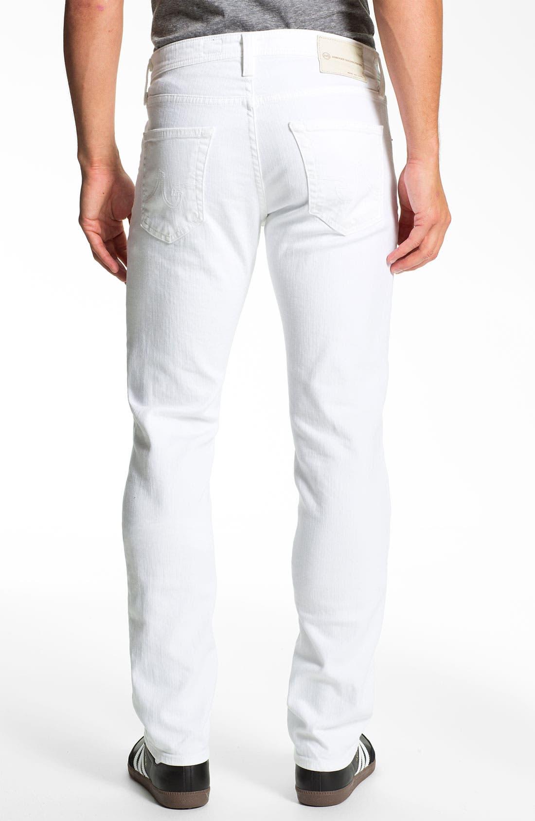 Alternate Image 2  - AG Jeans 'Matchbox' Slim Fit Jeans (White)
