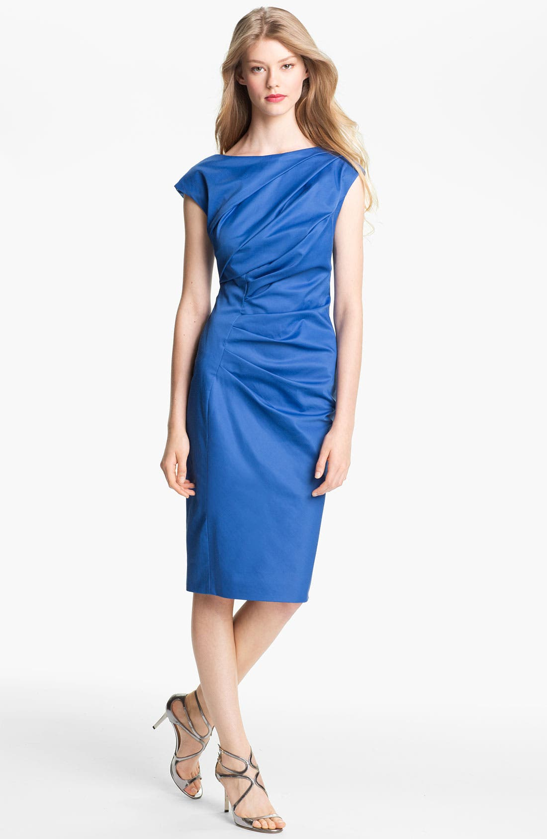 Alternate Image 1 Selected - Lela Rose Ruched Dress