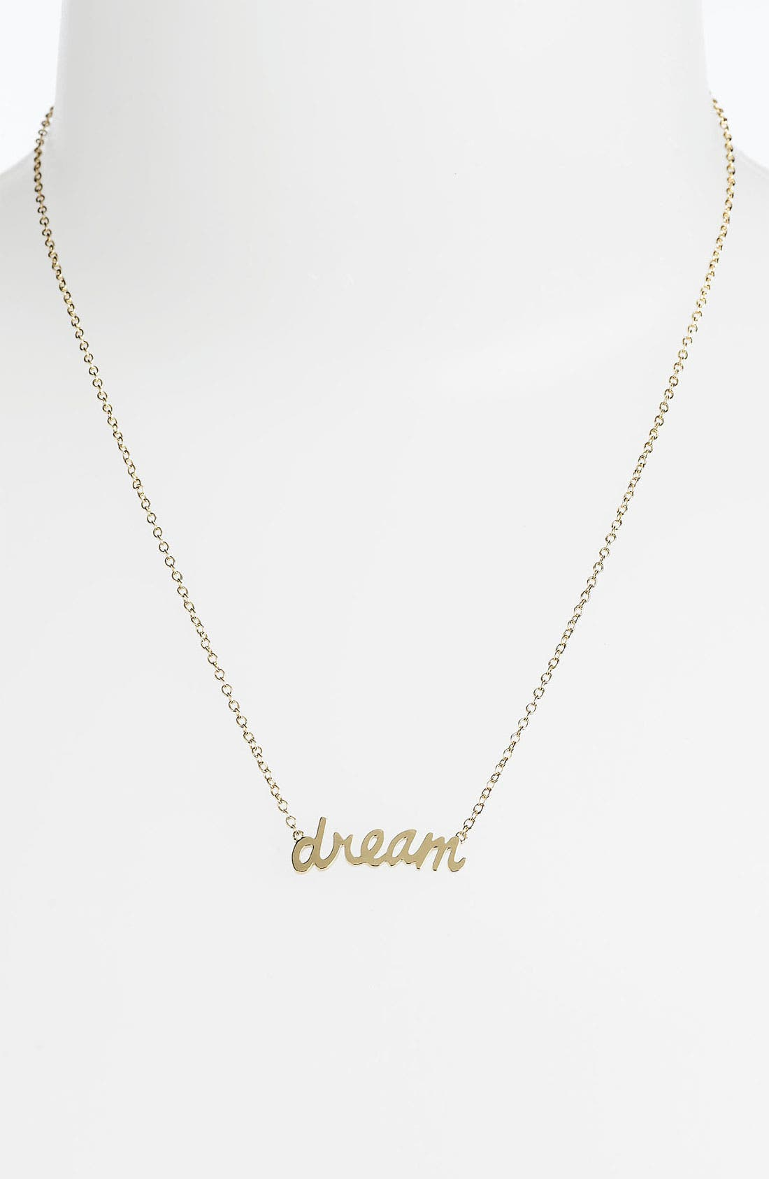 Alternate Image 1 Selected - Ariella Collection 'Messages - Dream' Script Pendant Necklace (Nordstrom Exclusive)