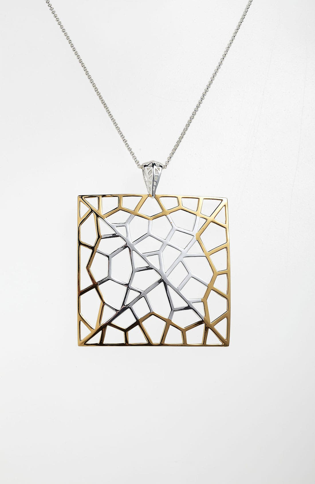 Alternate Image 1 Selected - Argento Vivo 'Prism' Large Square Pendant Necklace
