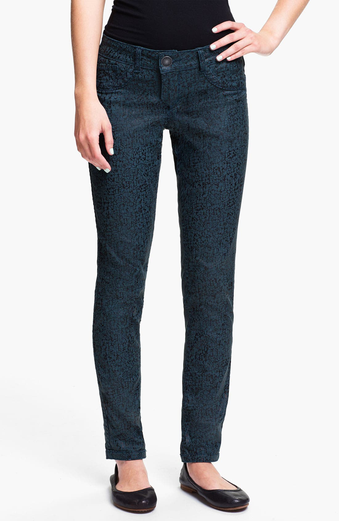 Alternate Image 2  - Jolt Reversible Skinny Jeans (Juniors)