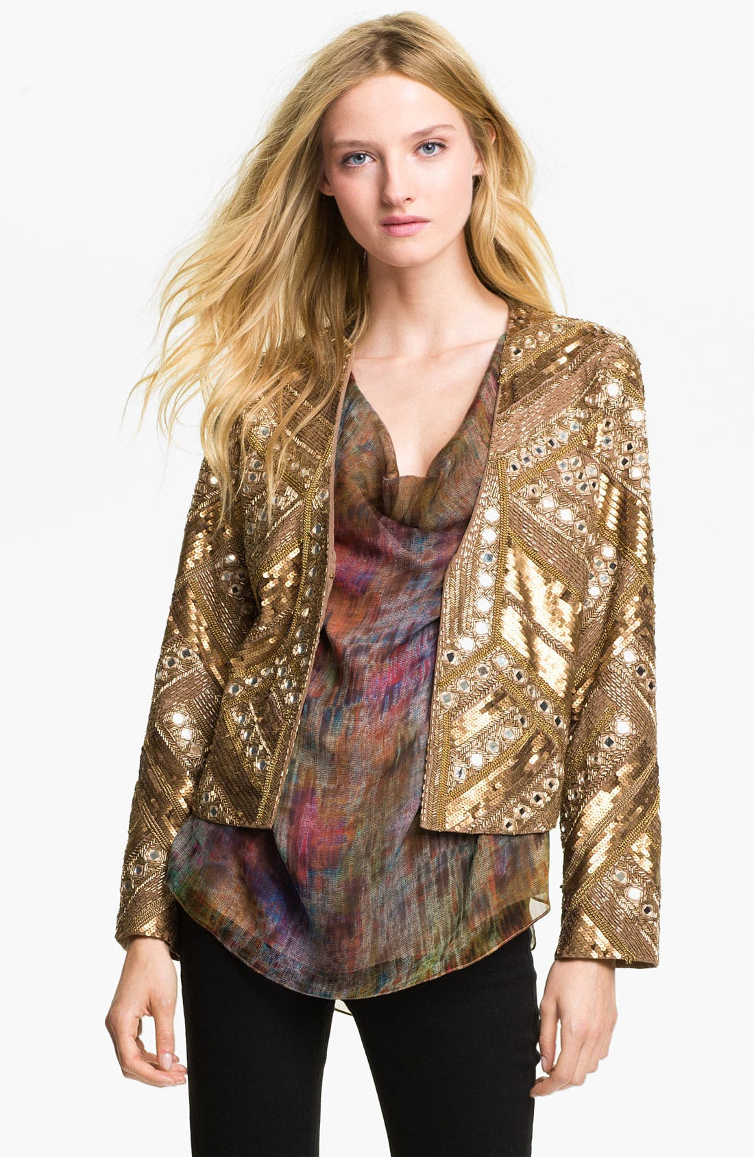 Alternate Image 1 Selected - Haute Hippie Embellished Silk Jacket